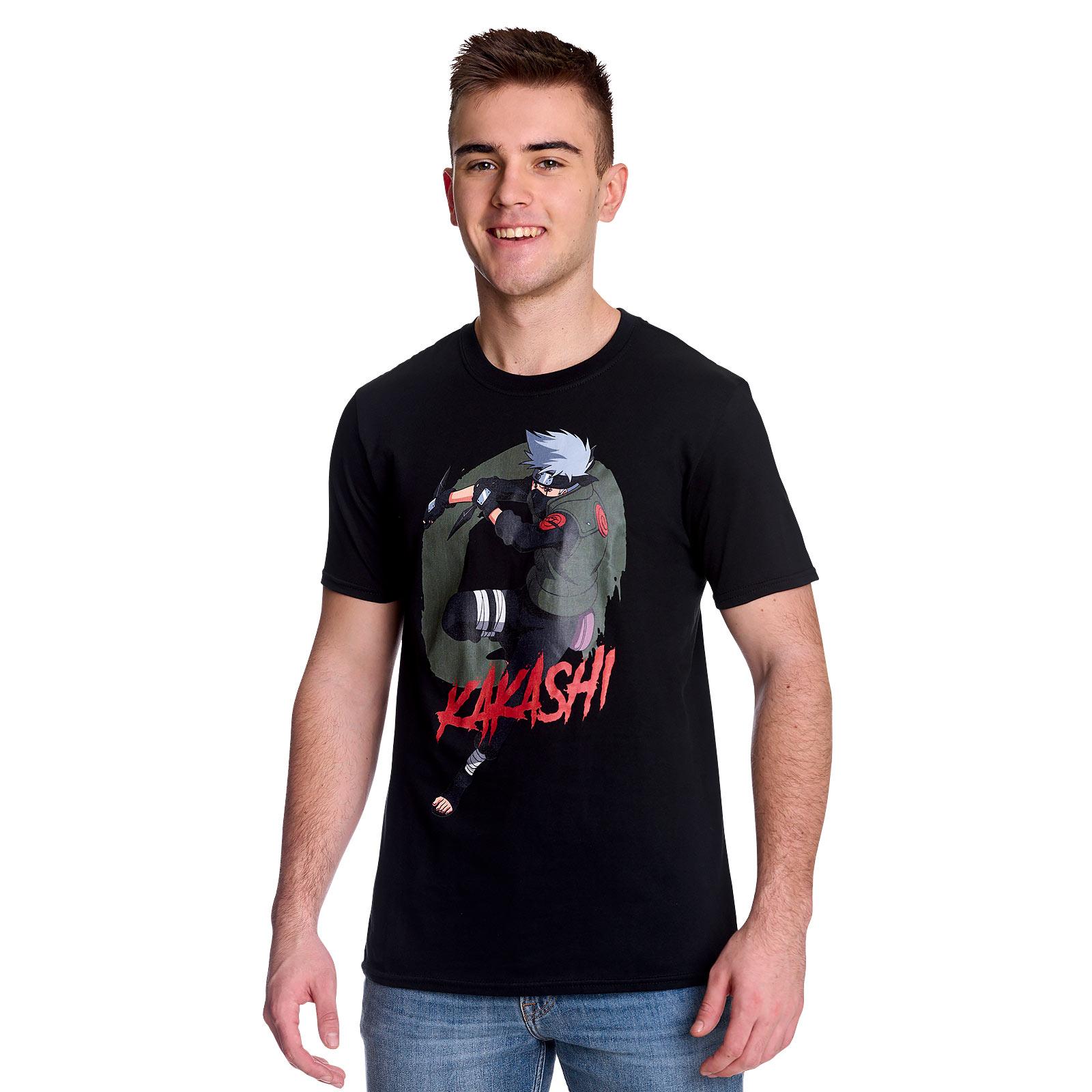 Naruto - Kakashi Character T-Shirt schwarz