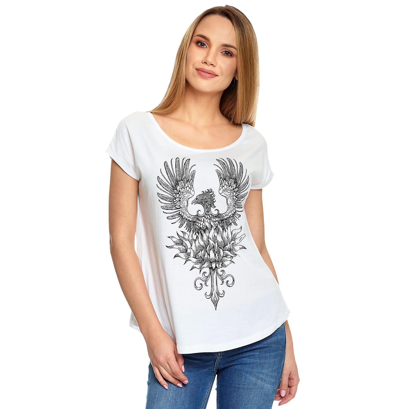 Harry Potter - Phönix T-Shirt Damen weiß