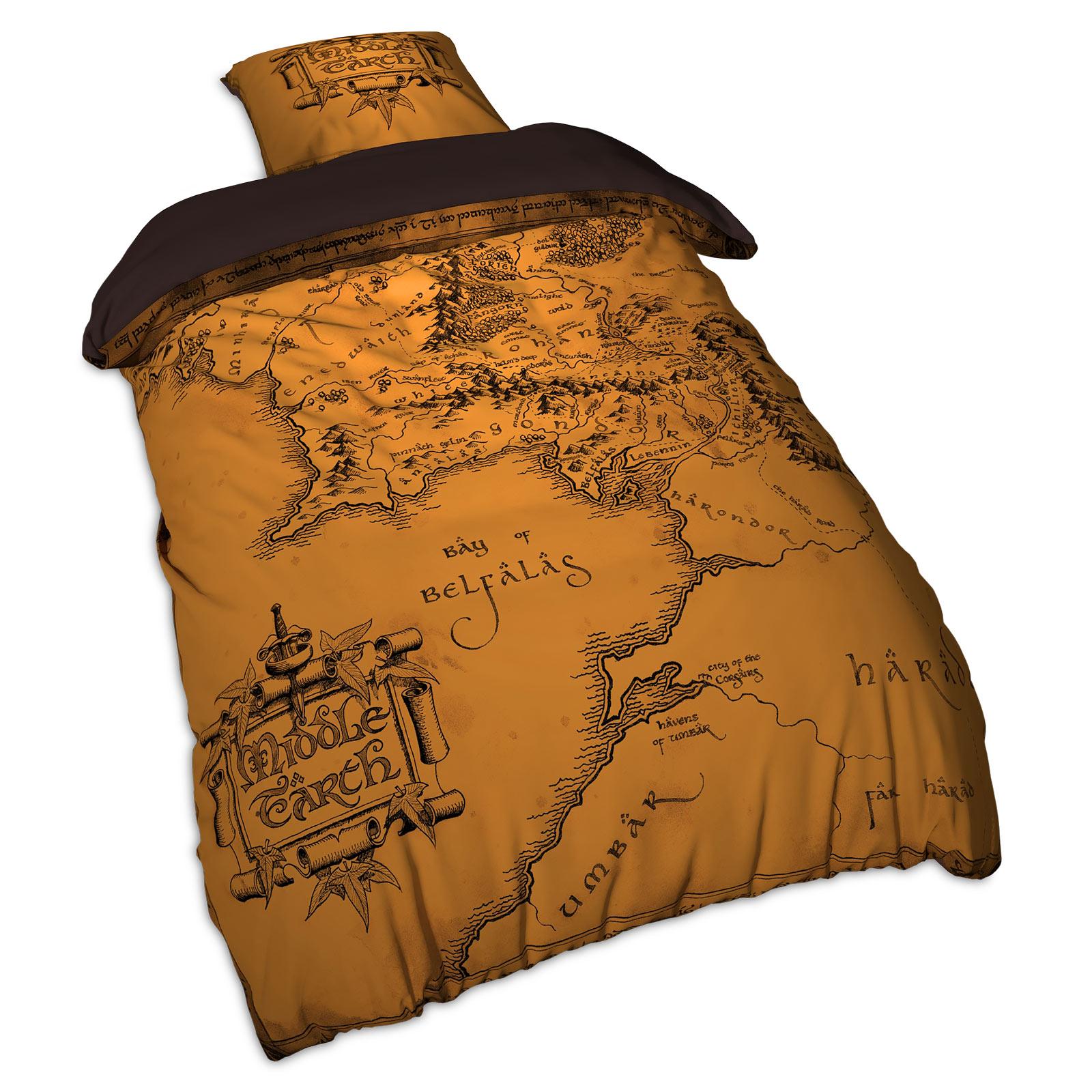 Herr der Ringe - Mittelerde Karte Bettwäsche