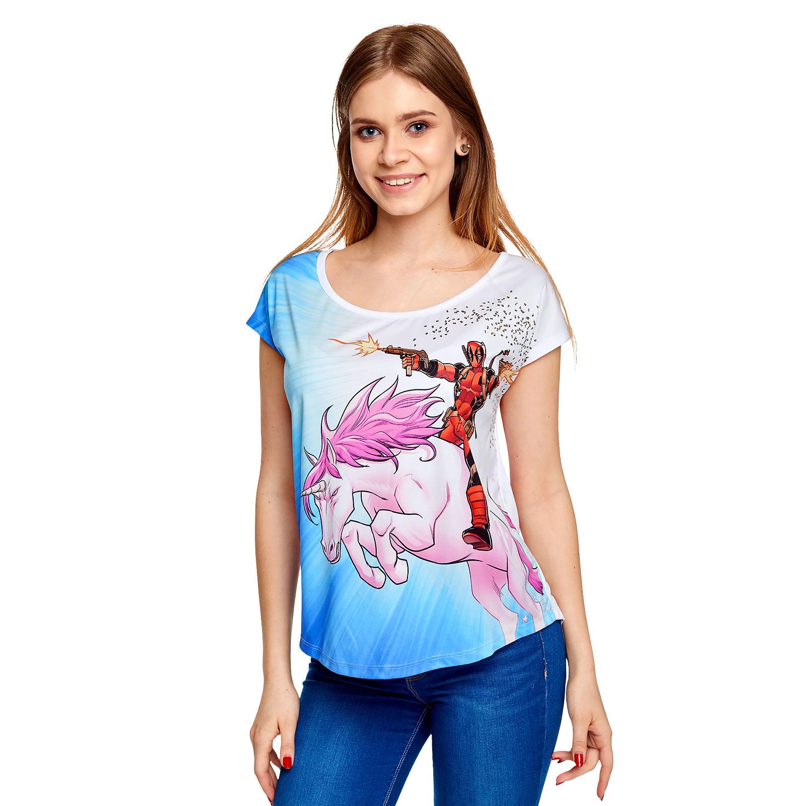 Deadpool - Unicorn Ride T-Shirt Damen Loose Fit