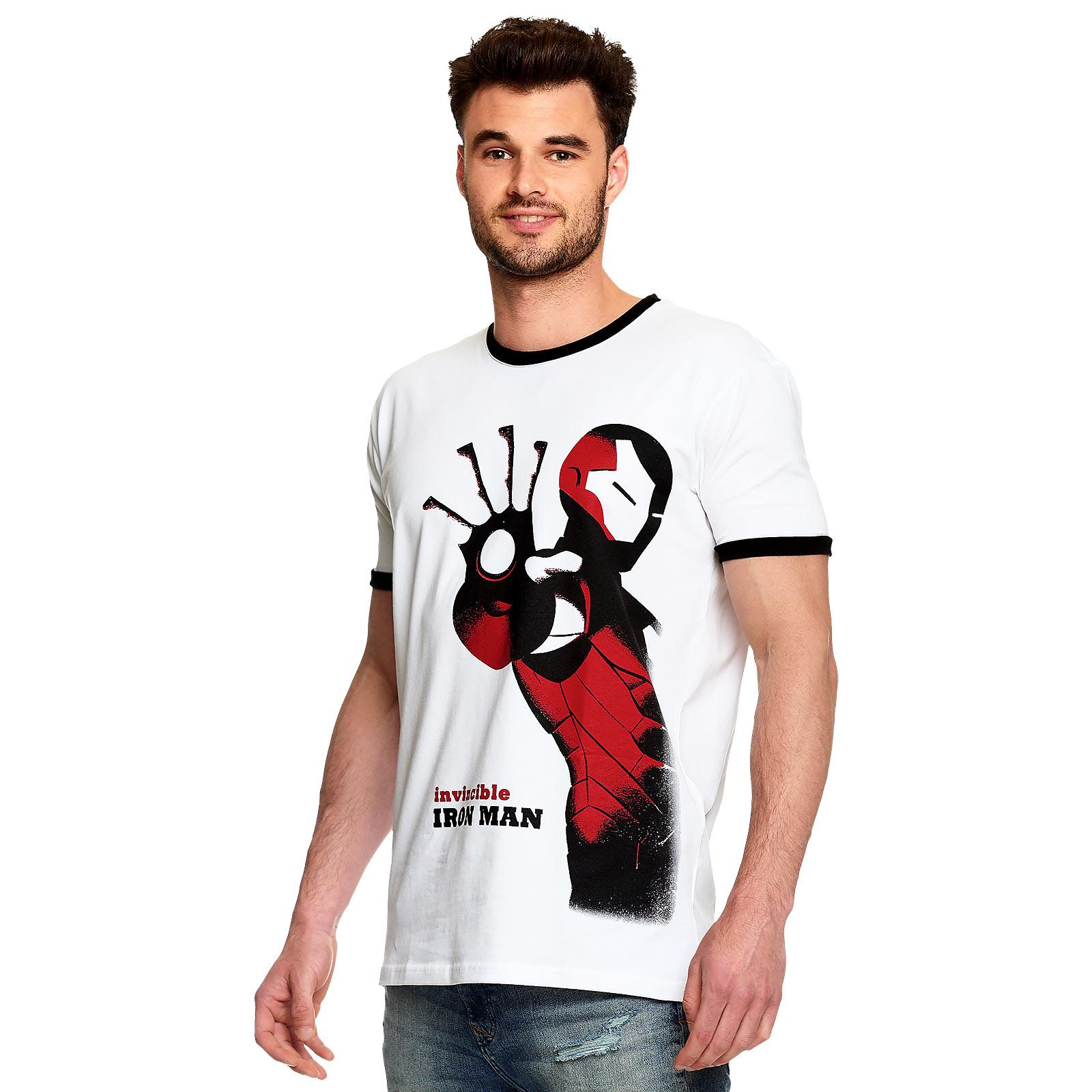 Avengers - Invincible Iron Man T-Shirt weiß
