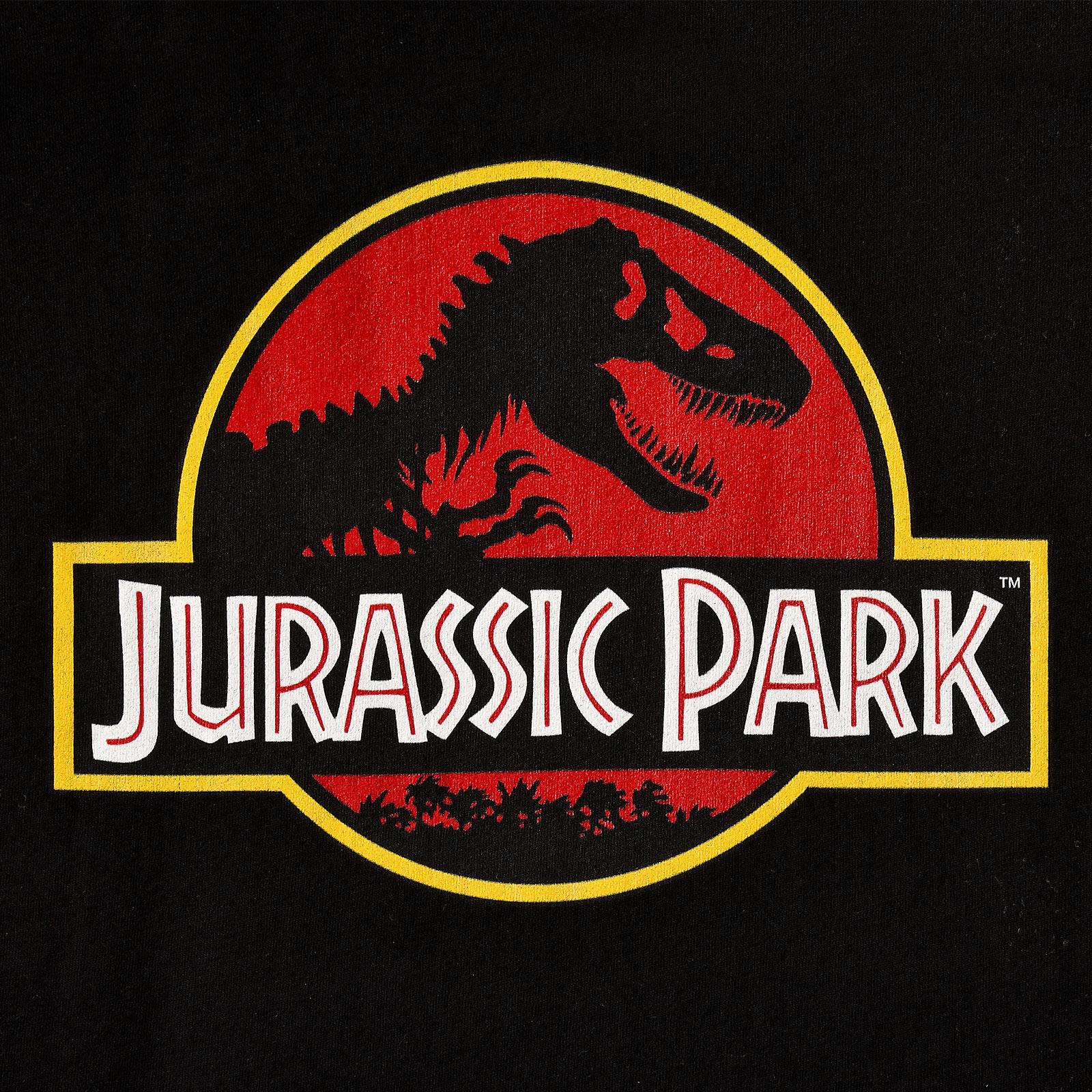Jurassic Park - Logo T-Shirt Damen schwarz