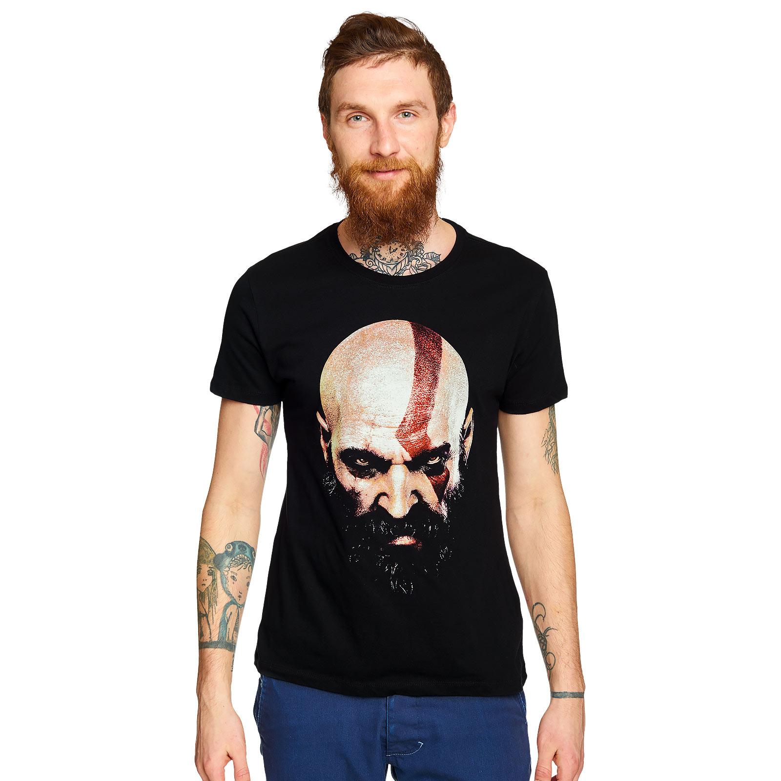 God of War - Kratos Face T-Shirt schwarz