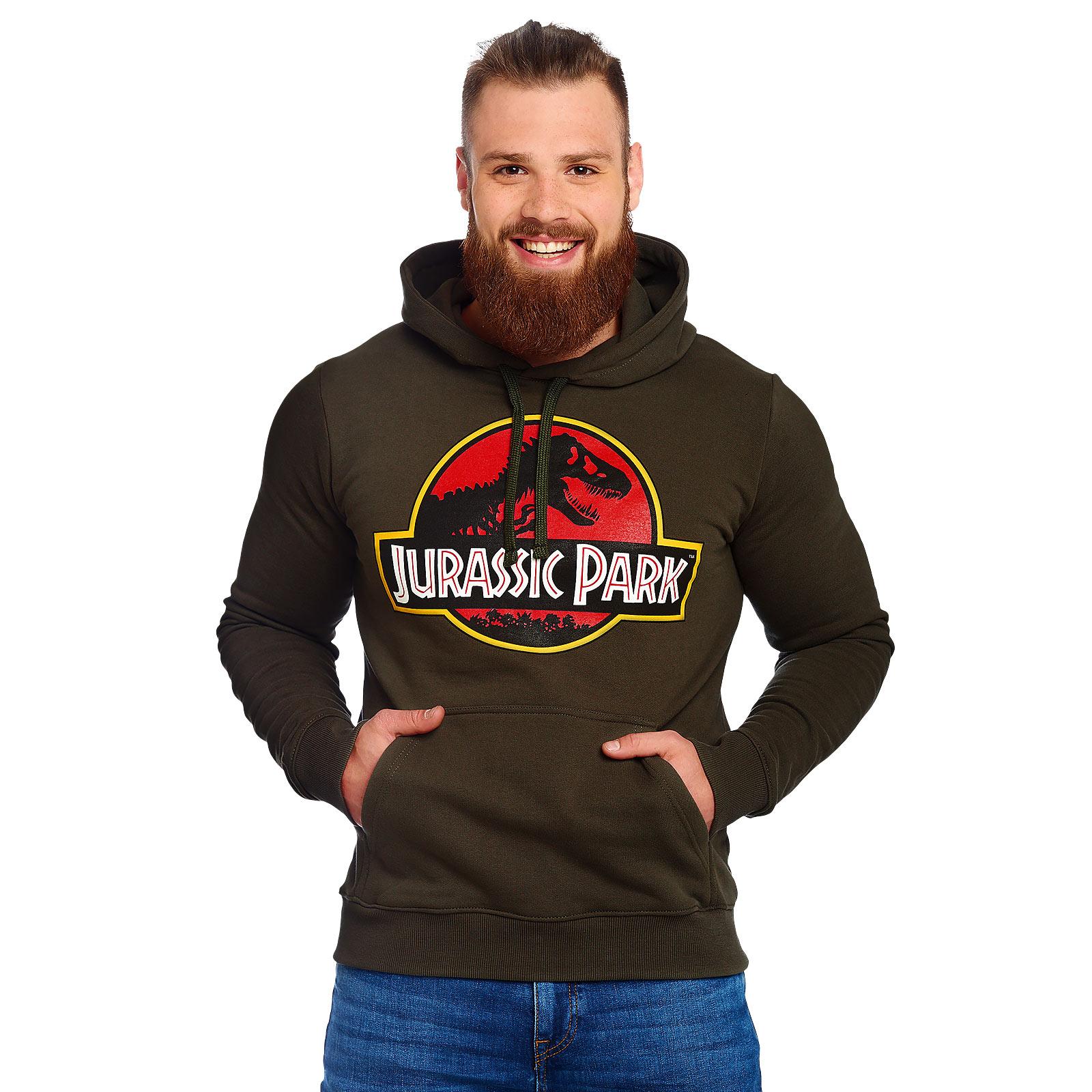 Jurassic Park - Logo Hoodie grün