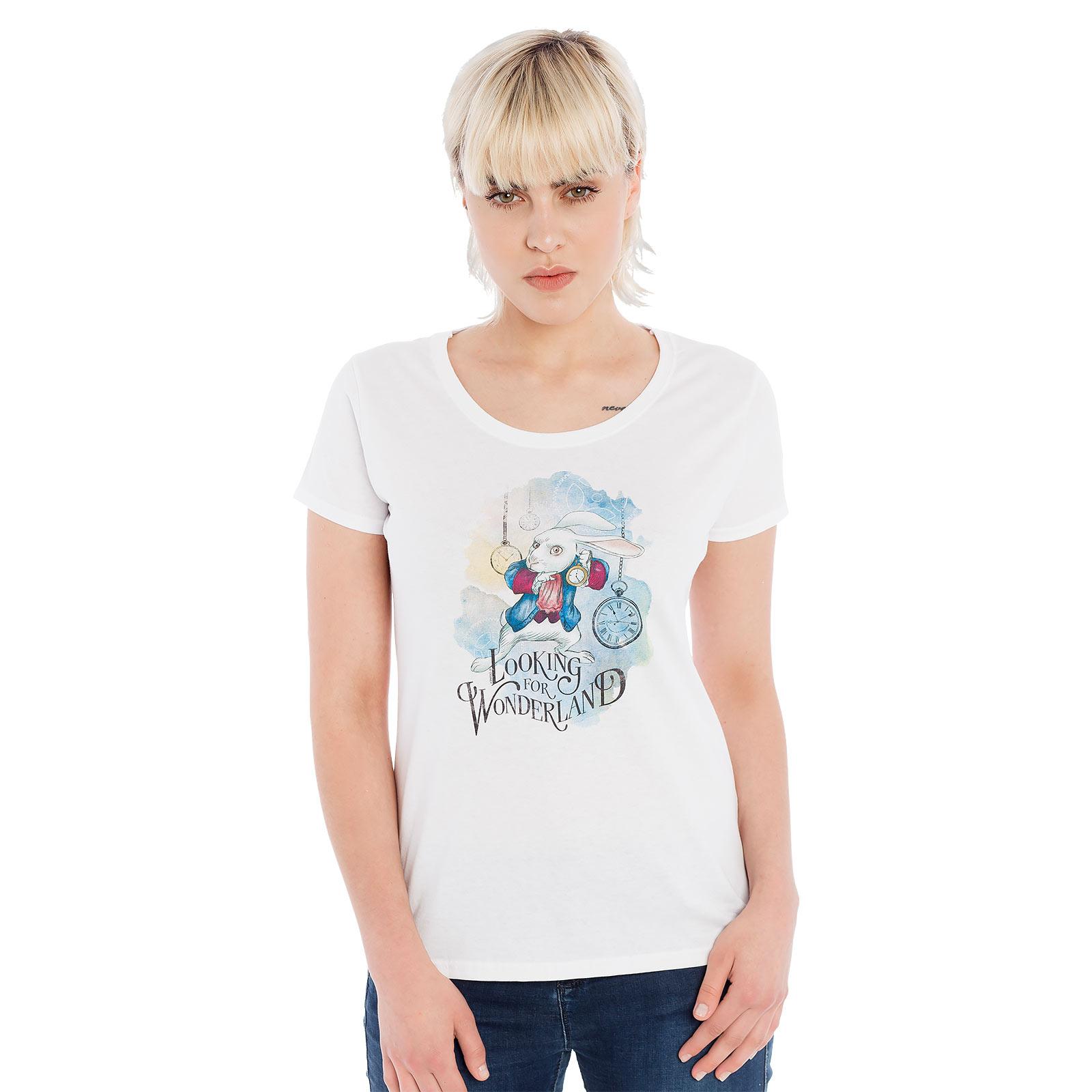 Alice im Wunderland - Wonderland Girlie Shirt weiß
