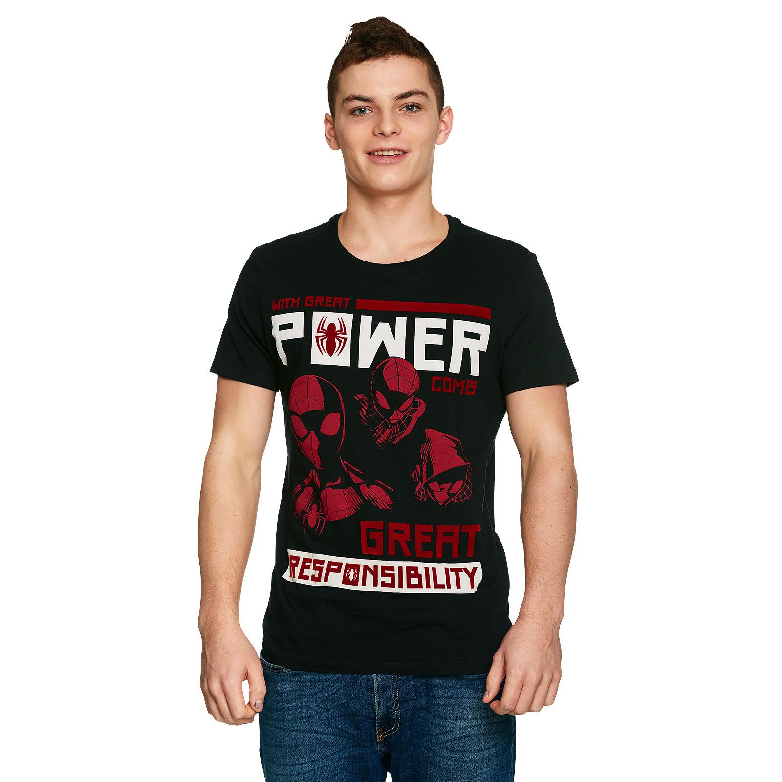 Spider-Man - Power vs. Responsibility T-Shirt schwarz