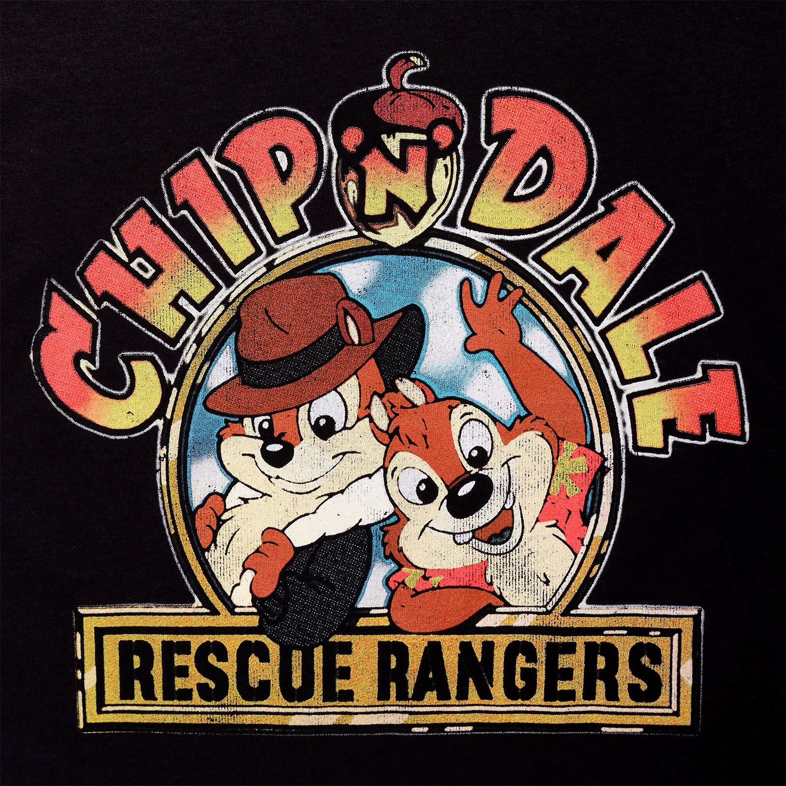 Chip und Chap - Rescue Rangers T-Shirt Damen Loose Fit schwarz