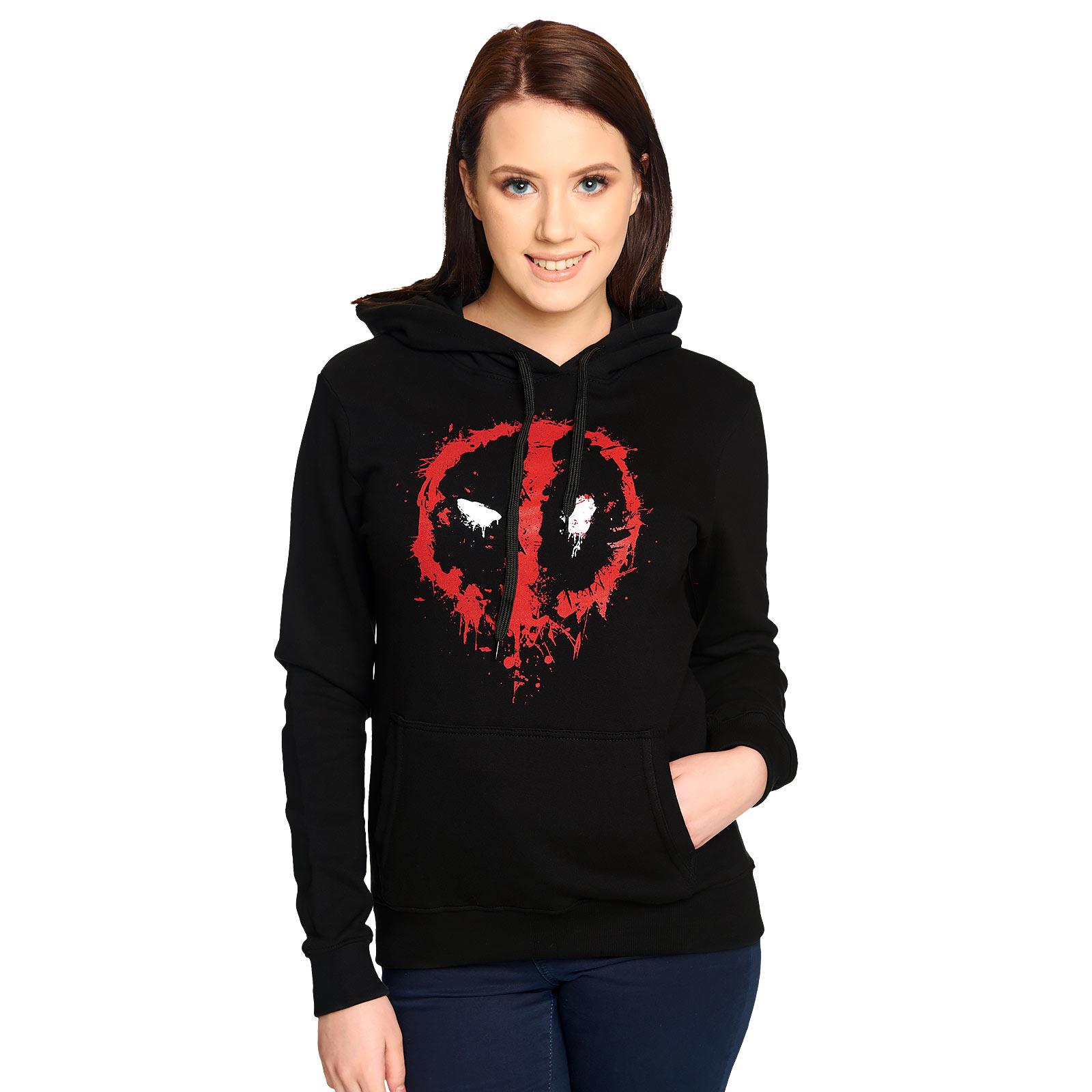 Deadpool - Logo Hoodie Damen schwarz