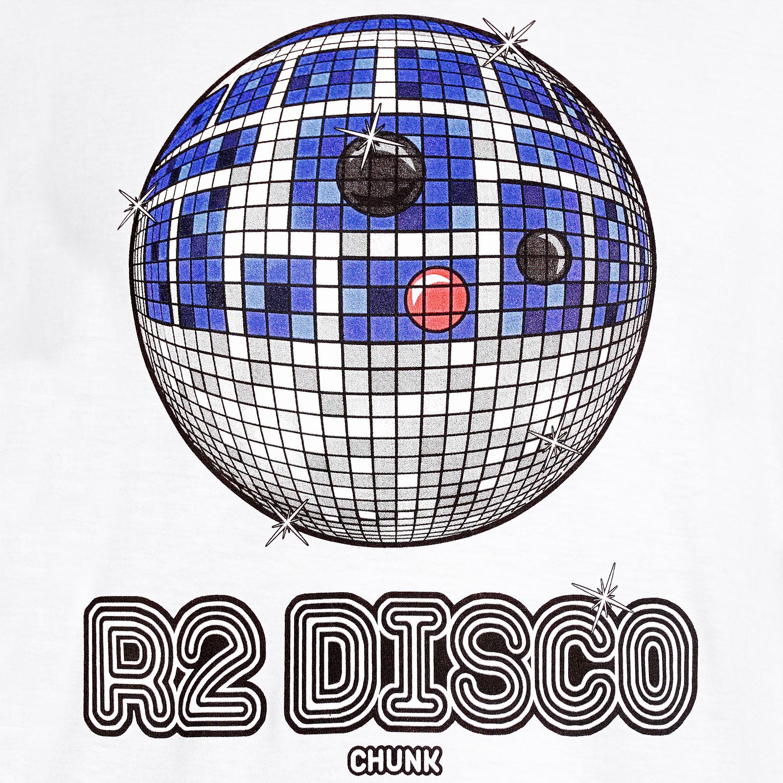 Droid Disco T-Shirt für Star Wars Fans weiß