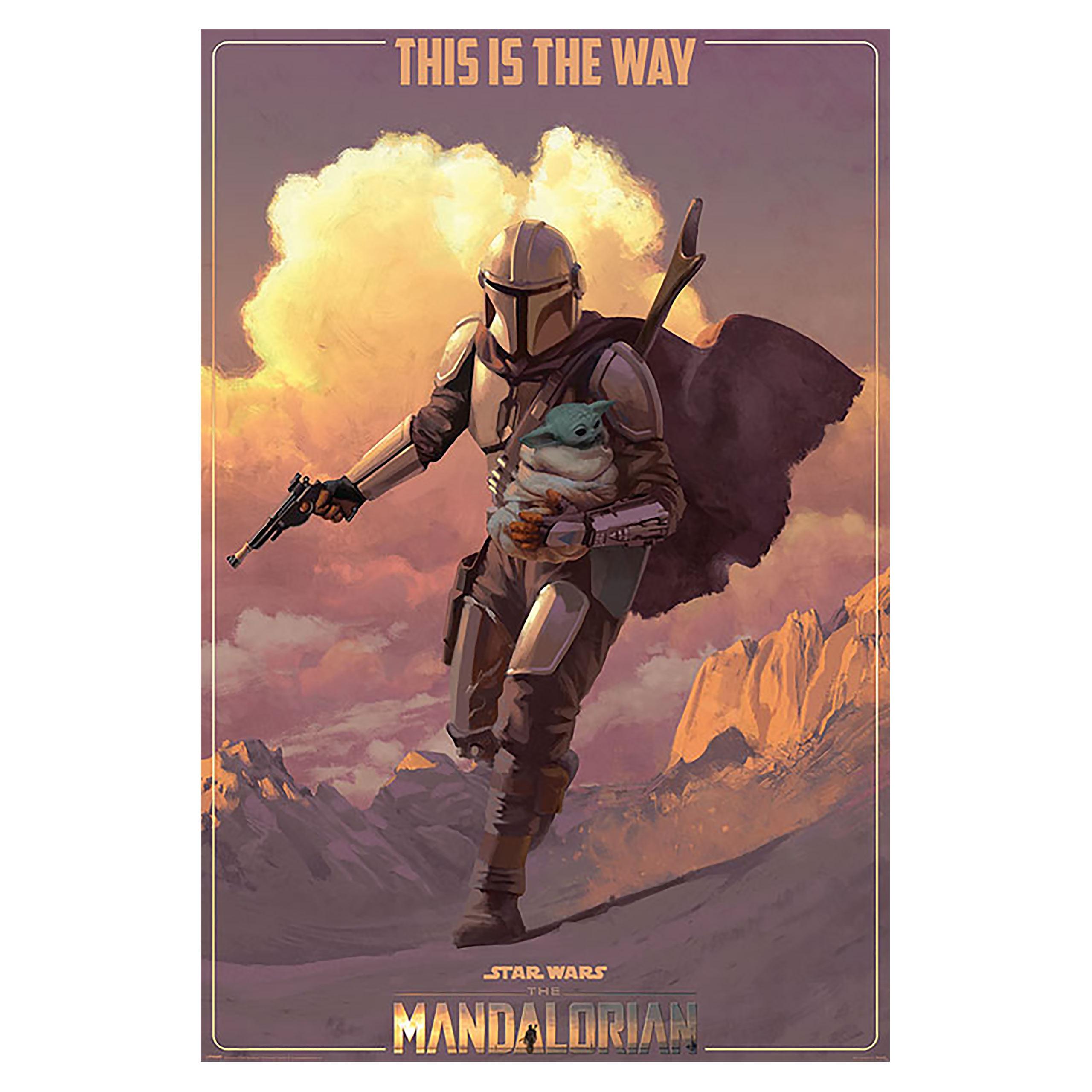 Mandalorian on the Run Maxi Poster - Star Wars The Mandalorian
