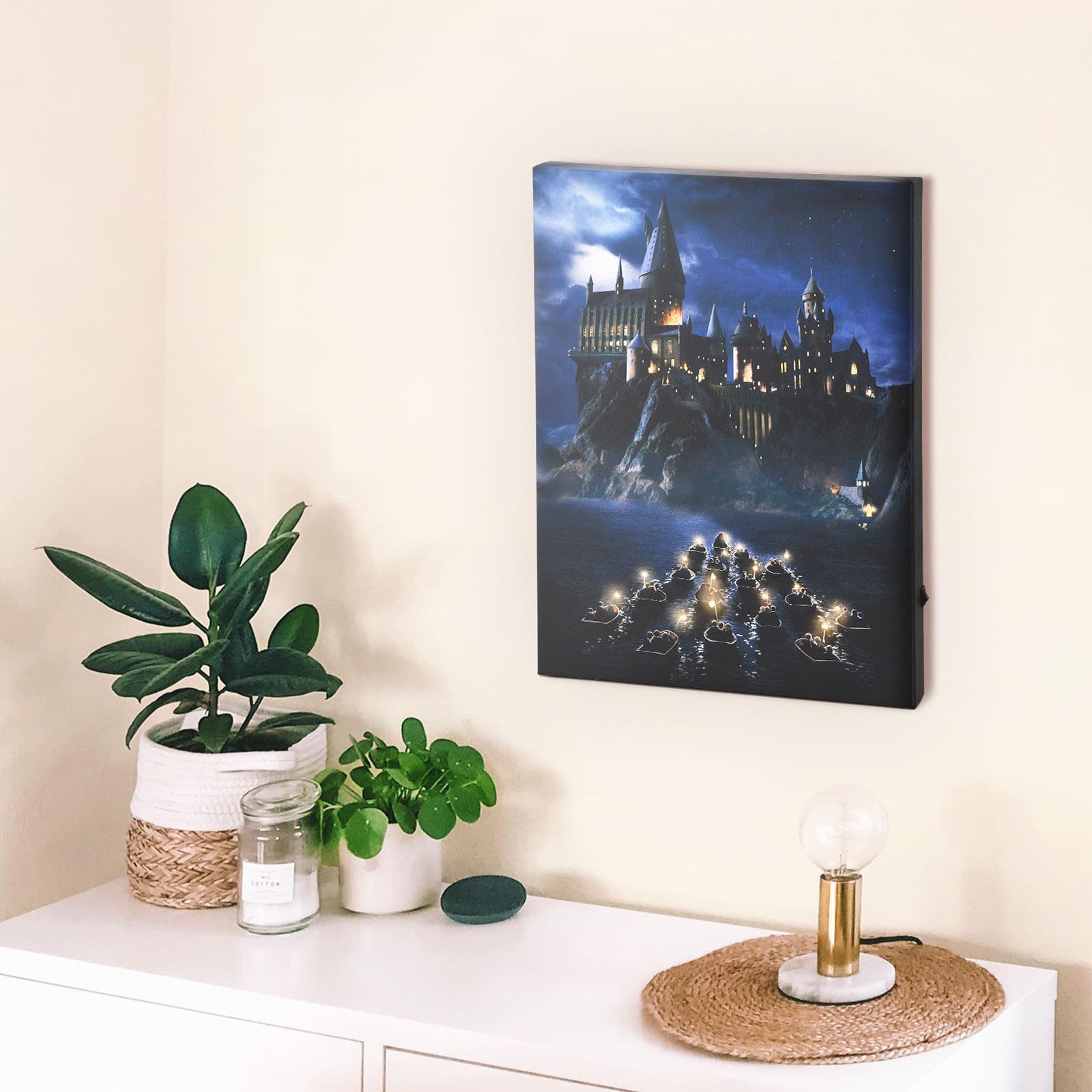 Harry Potter - Hogwarts Wandbild mit Licht