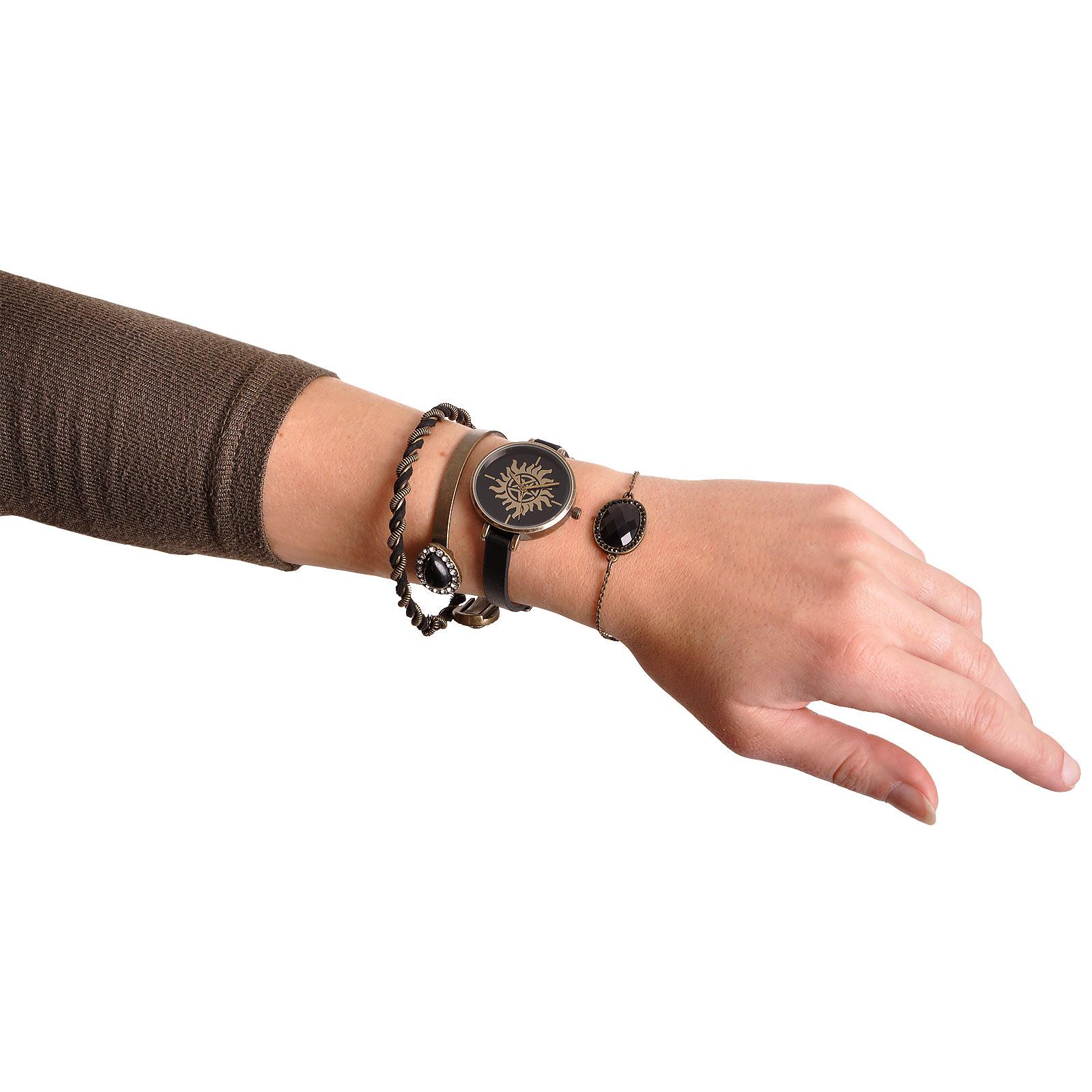 Supernatural - Anti Possession Armbanduhr mit Schmuckset
