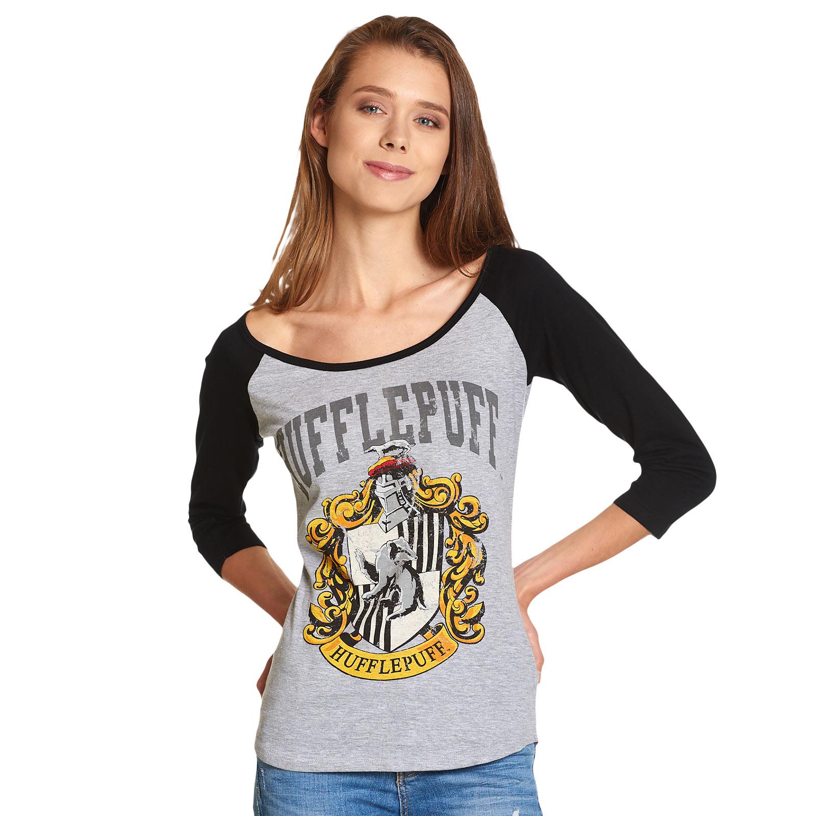 Harry Potter - Hufflepuff Wappen Longsleeve Damen