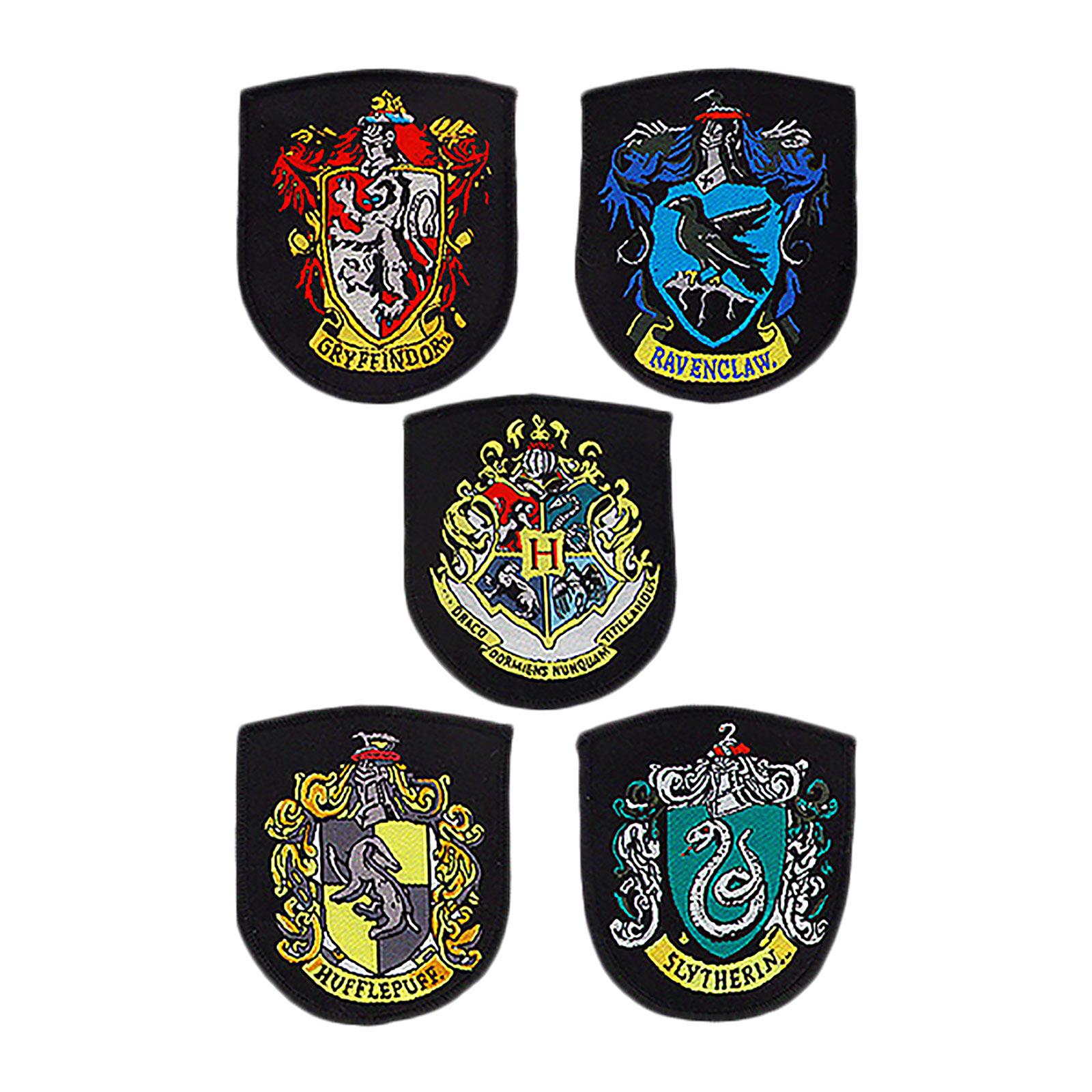 Harry Potter - Häuser Wappen Aufnäher 5er Set