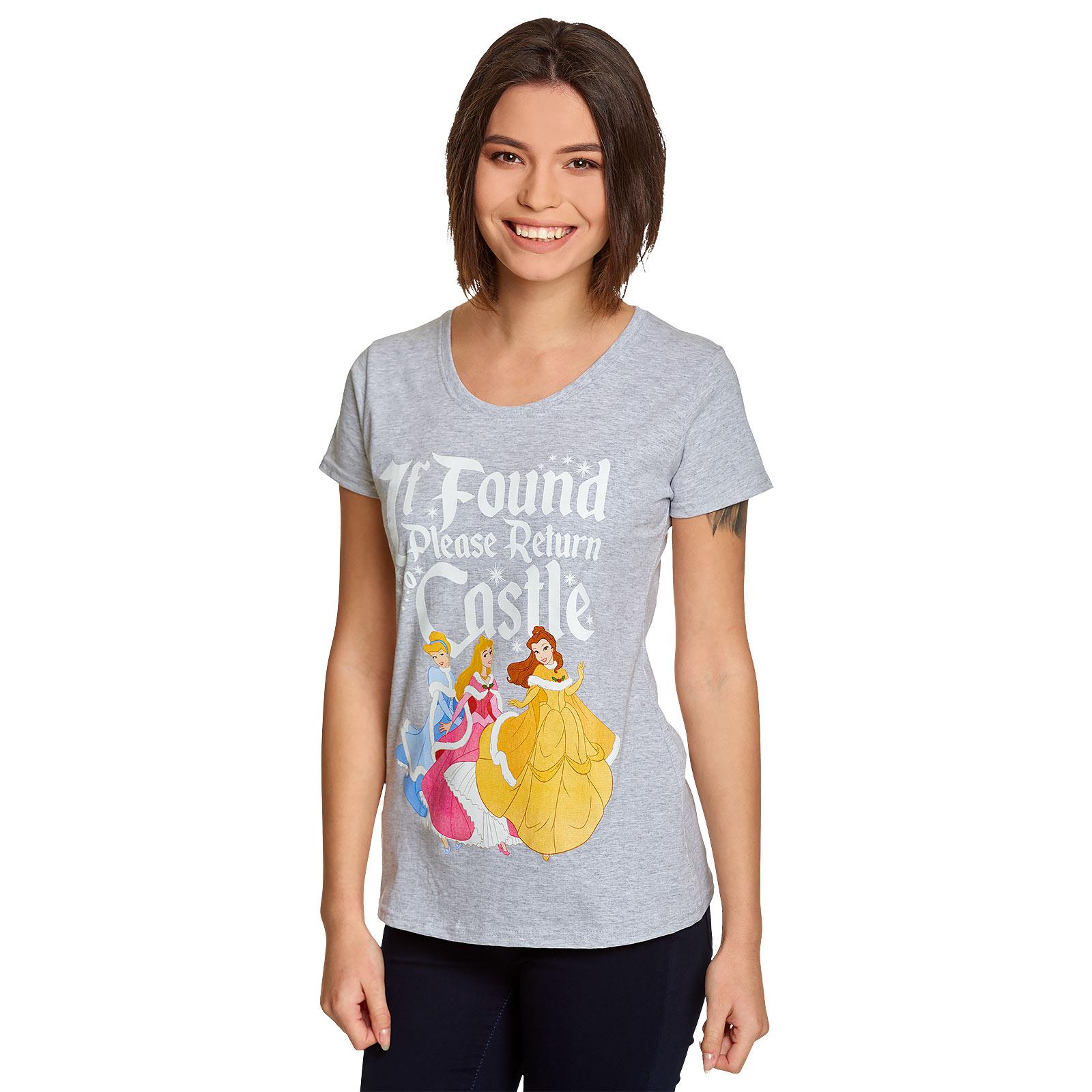 Disney Princess - If Found Return to Castle T-Shirt Damen grau