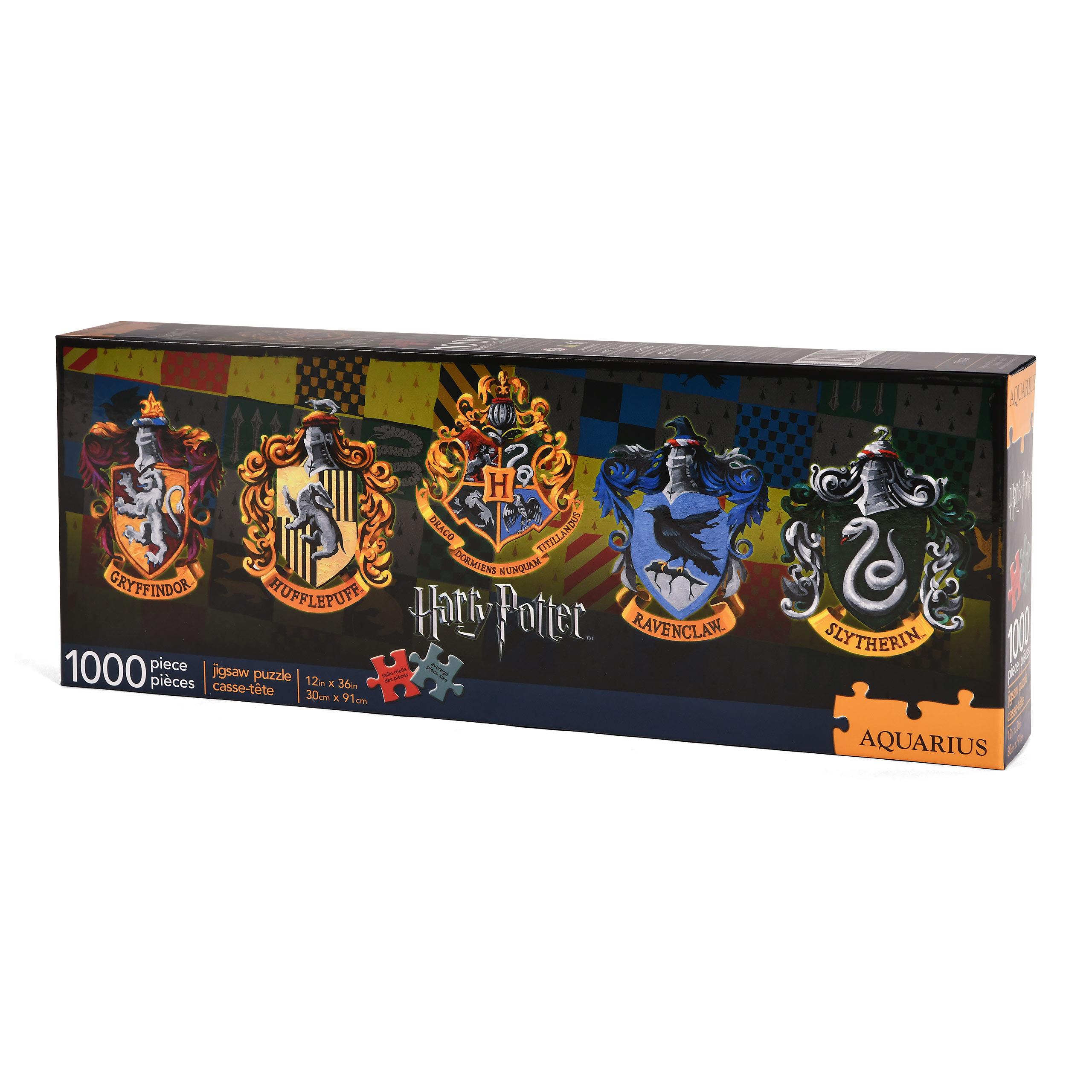 Harry Potter - Häuserwappen Slim Puzzle 1000 Teile