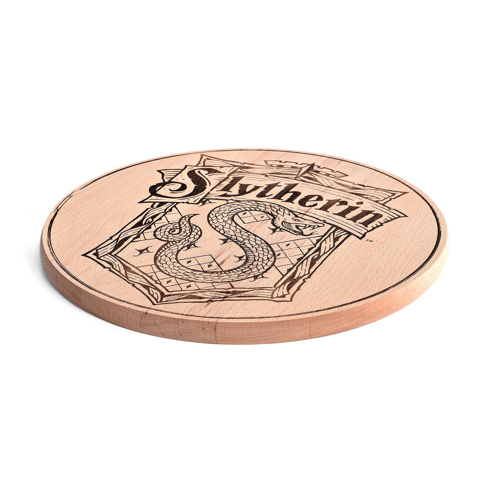 Harry Potter - Slytherin Wappen Schneidebrett Buche