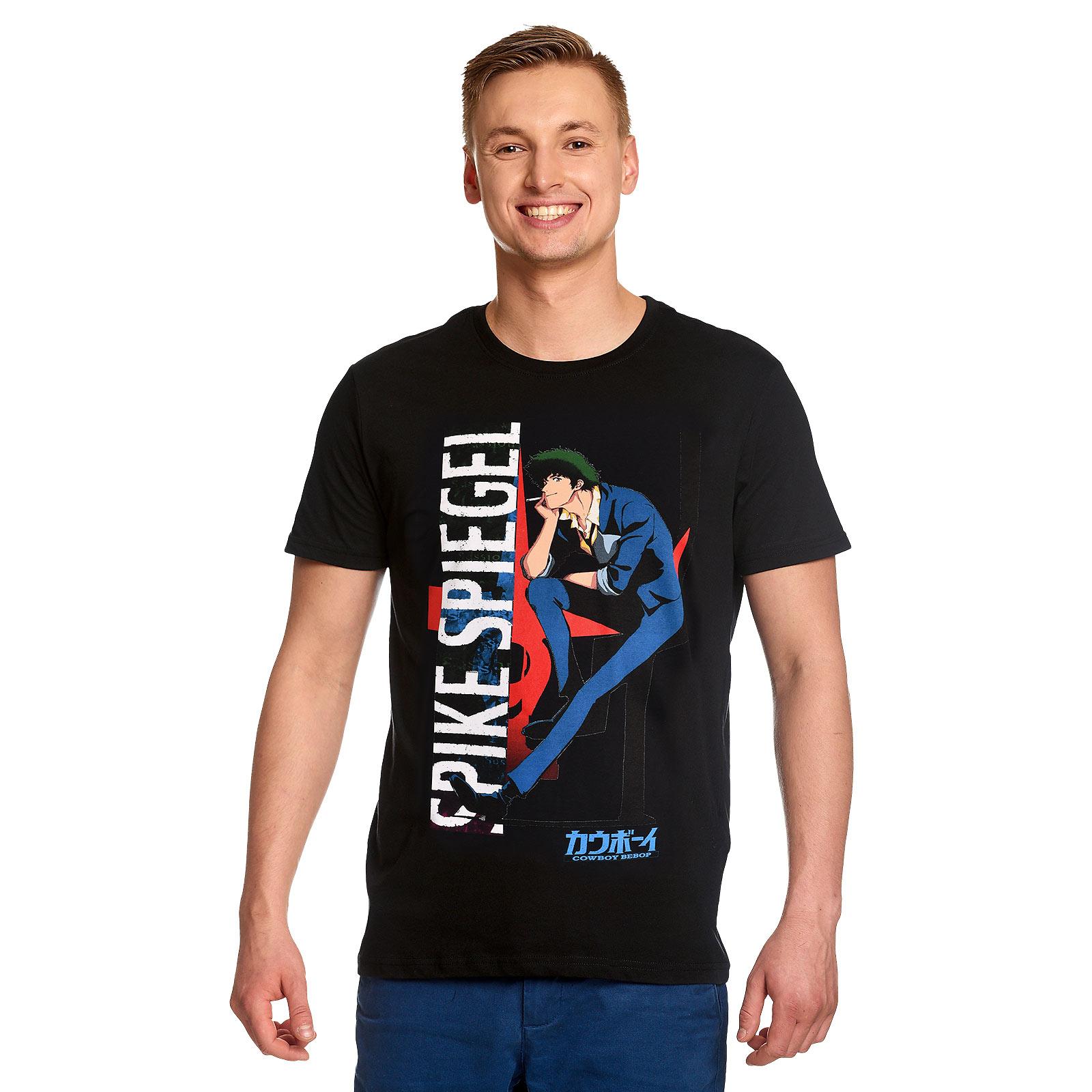 Cowboy Bebop - Spike Spiegel Character T-Shirt schwarz