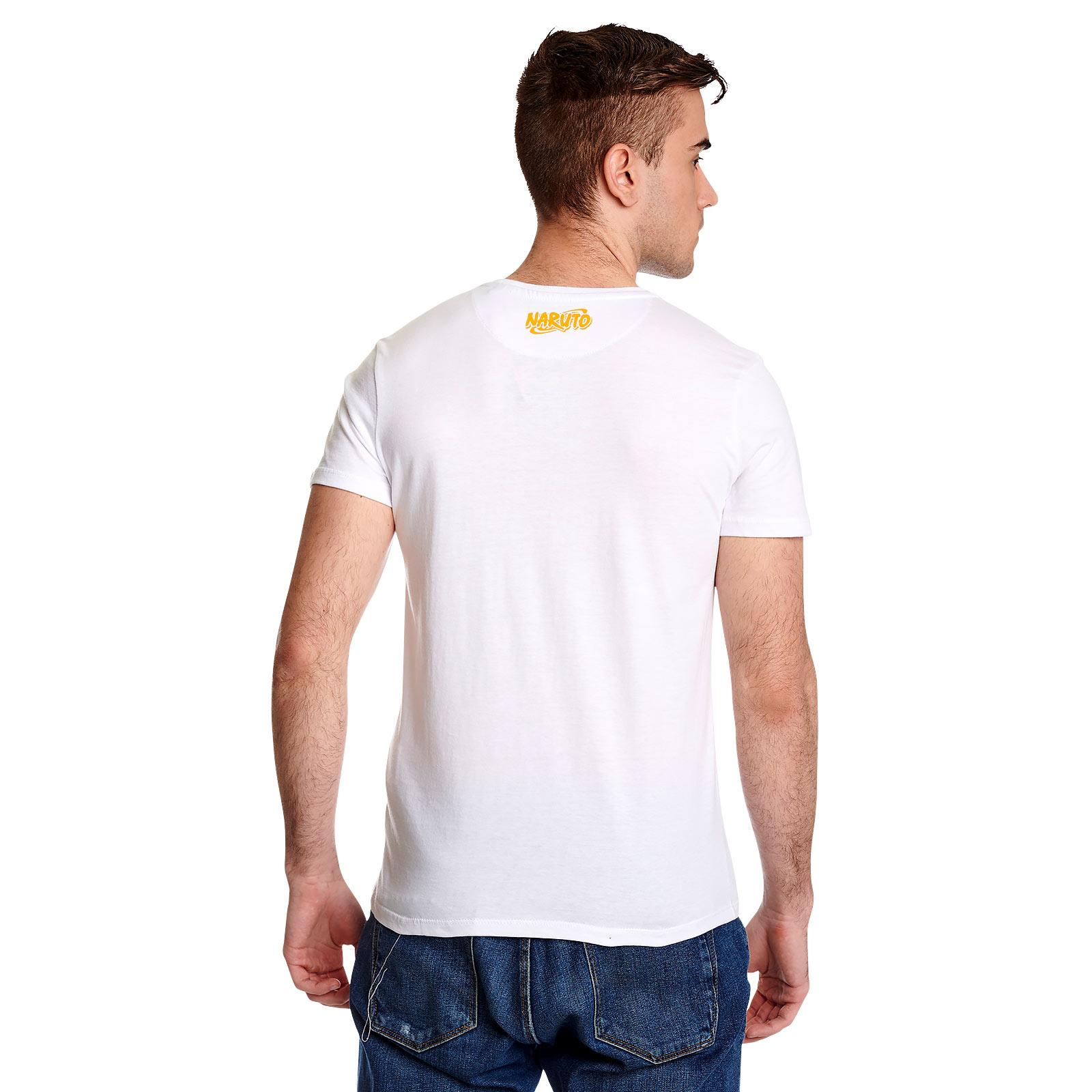 Naruto - Monochrome Sketch T-Shirt weiß