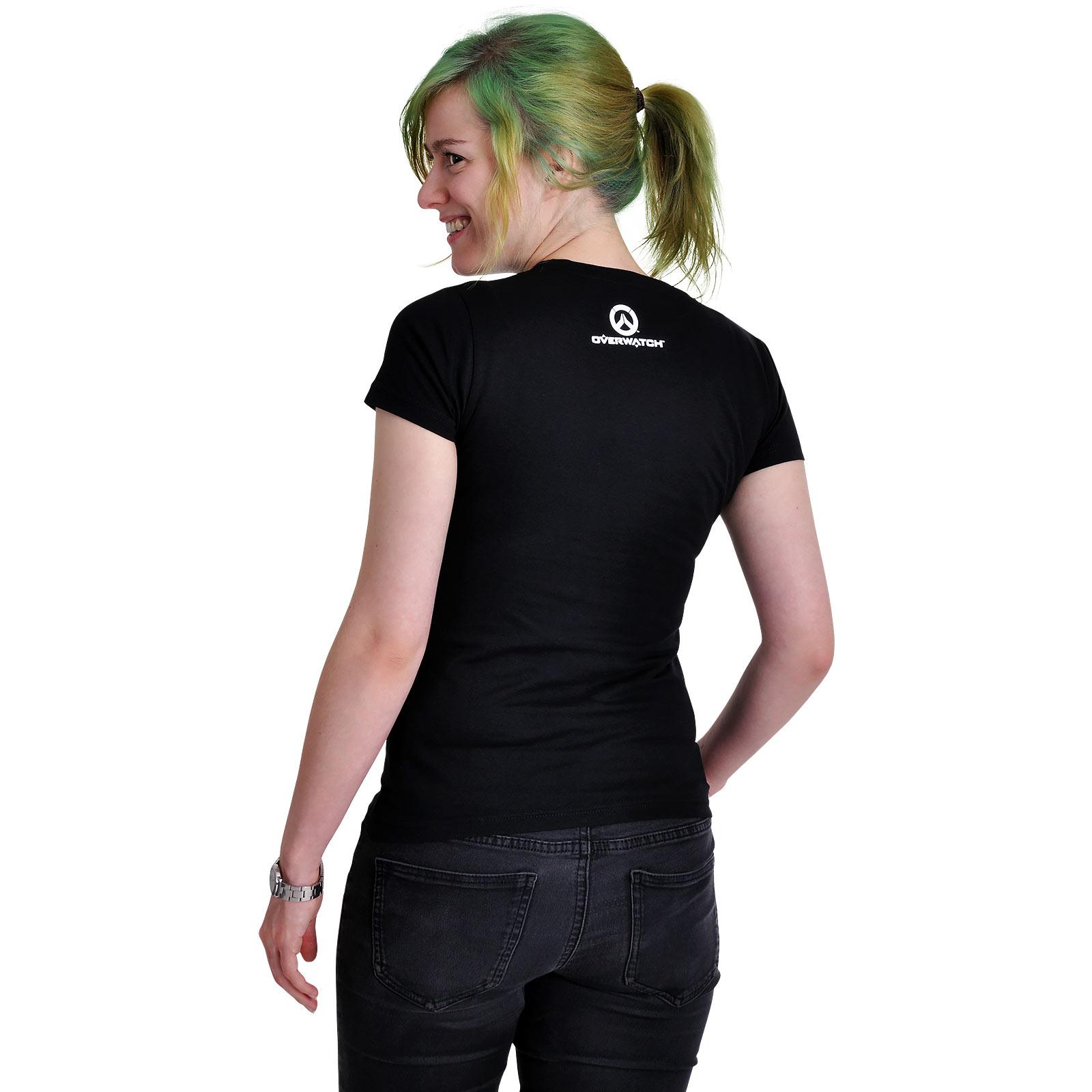 Overwatch - D.VA Spray Logo T-Shirt Damen schwarz