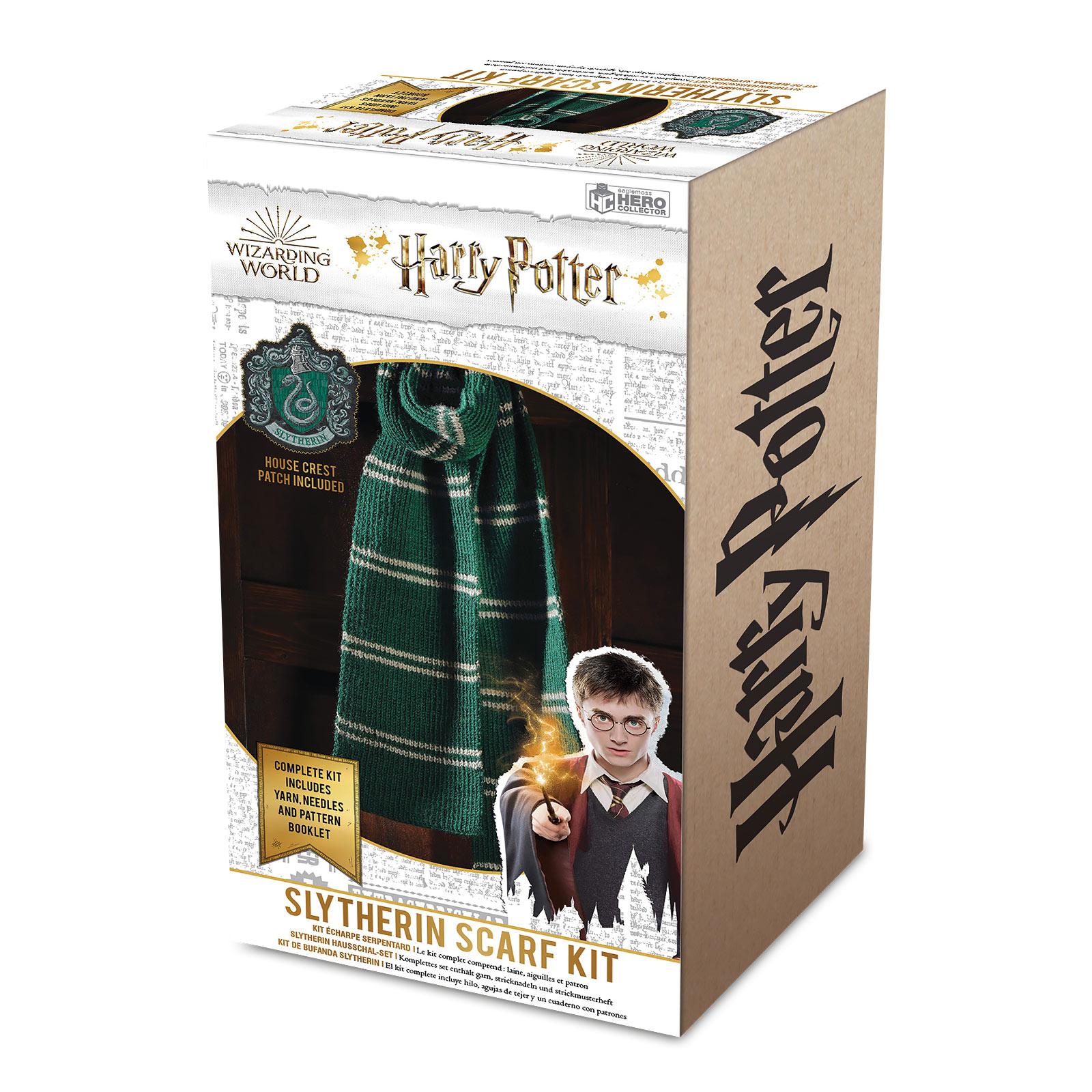 Harry Potter - Slytherin Schal Strick-Set