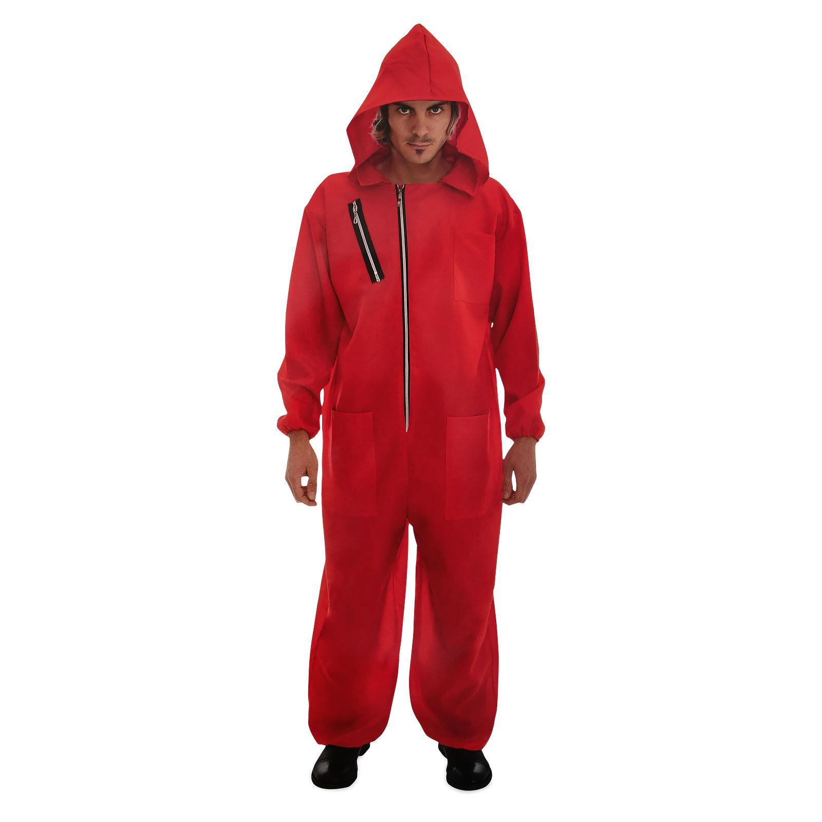 Roter Räuber Kostüm für Haus des Geldes Fans