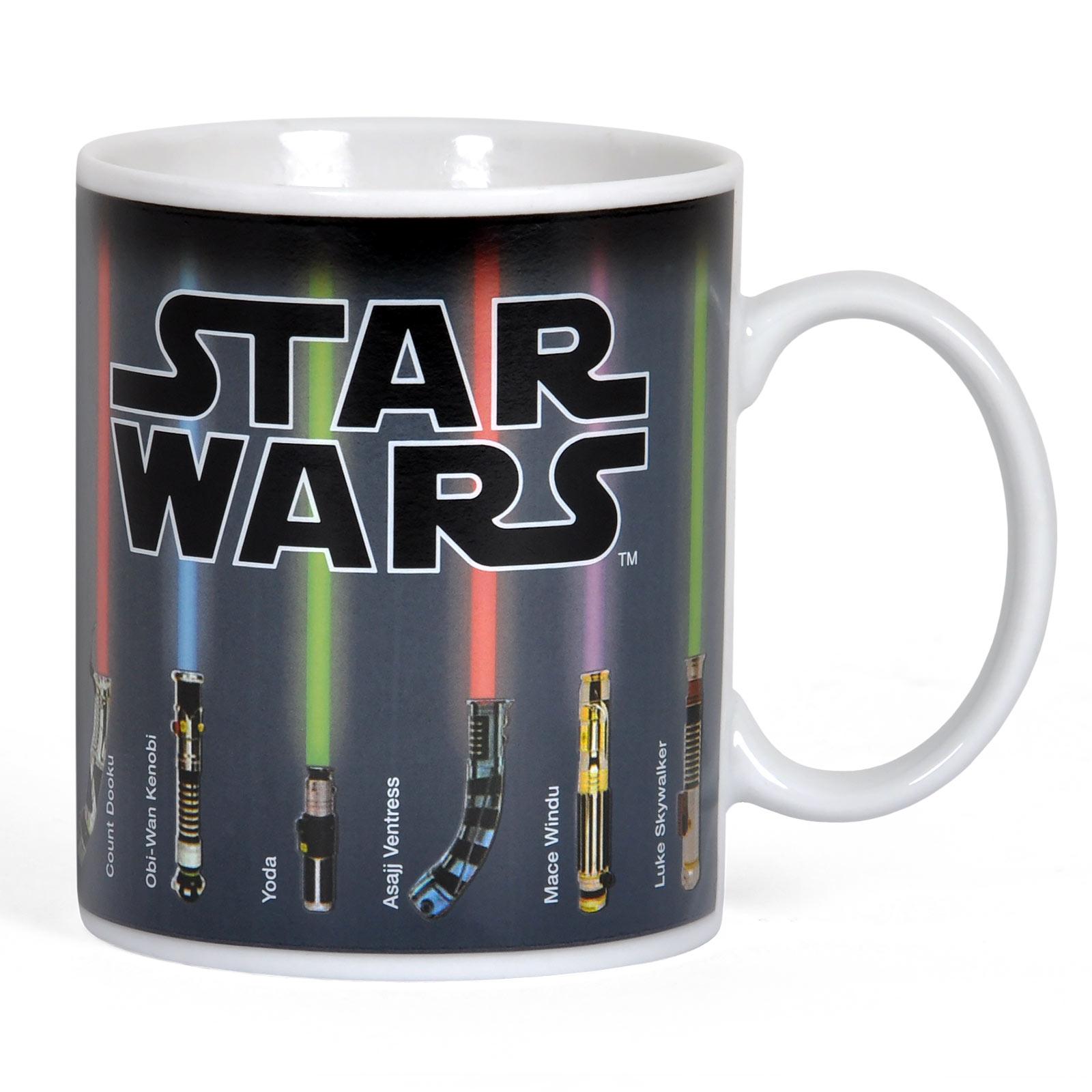 Star Wars - Lichtschwert Thermoeffekt Tasse
