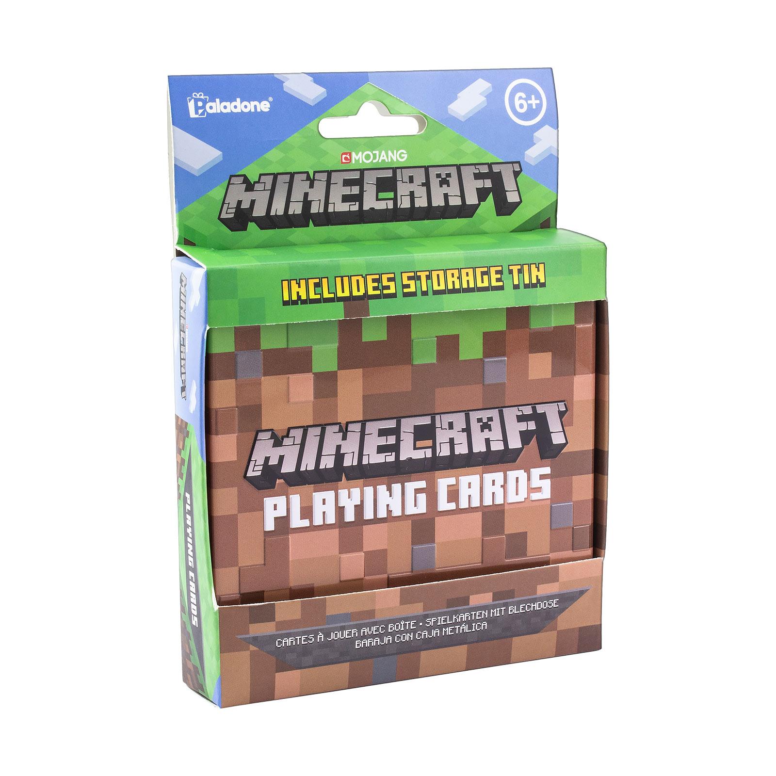 Minecraft Spielkarten in Metallbox