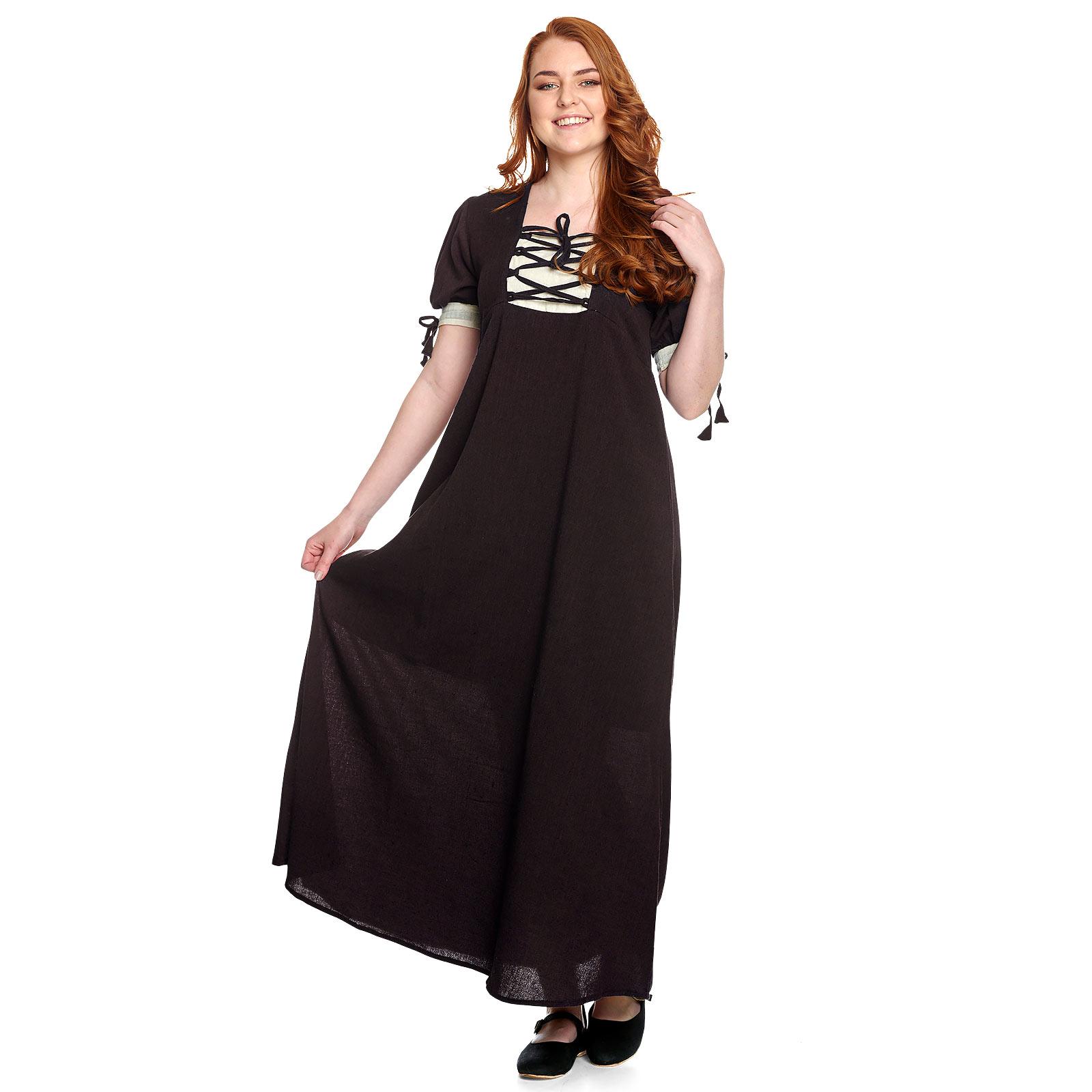 Mittelalter Sommer Kleid Lysa braun-beige