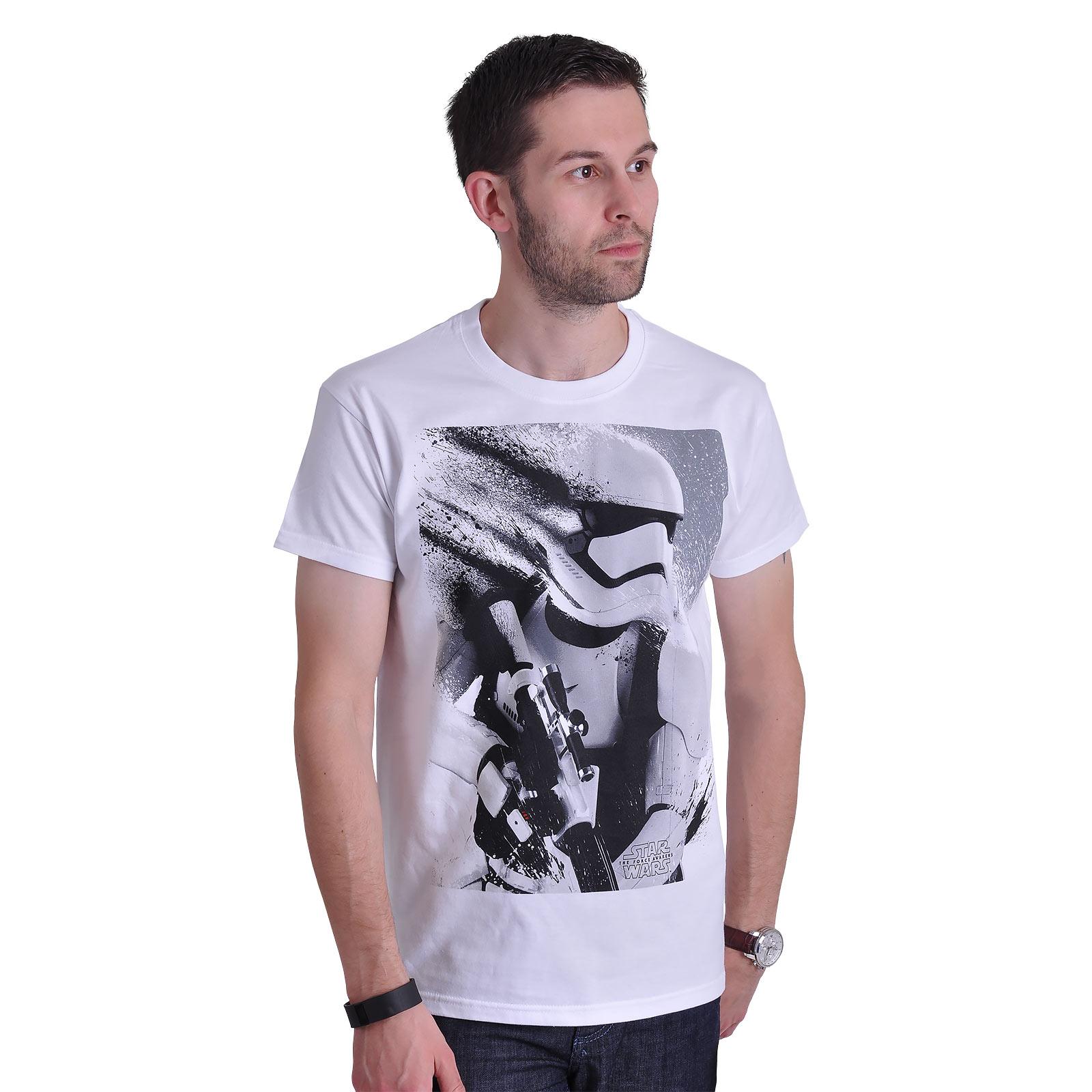 Star Wars - Stormtrooper Splatter T-Shirt weiß