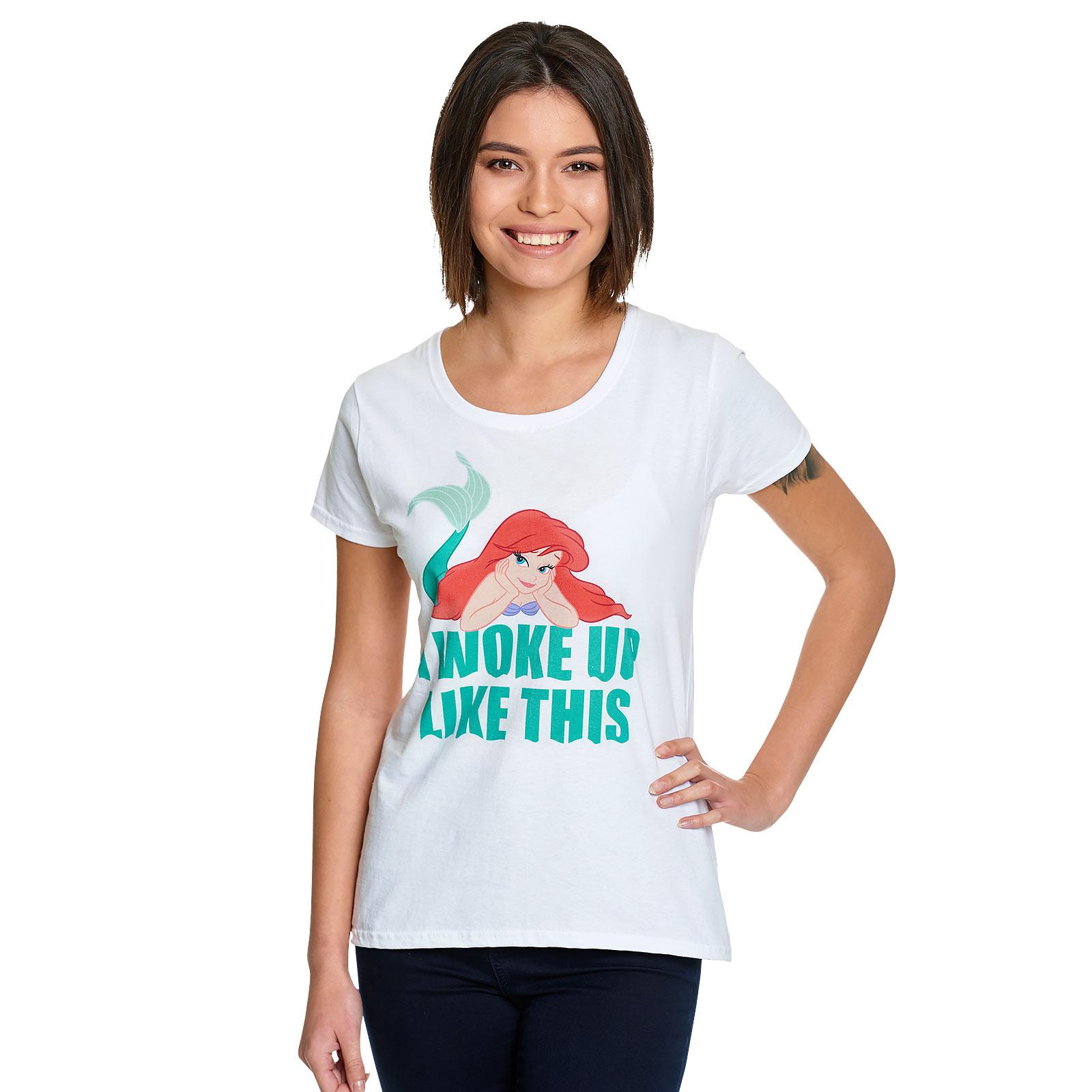 Arielle - Woke Up Like This T-Shirt Damen weiß