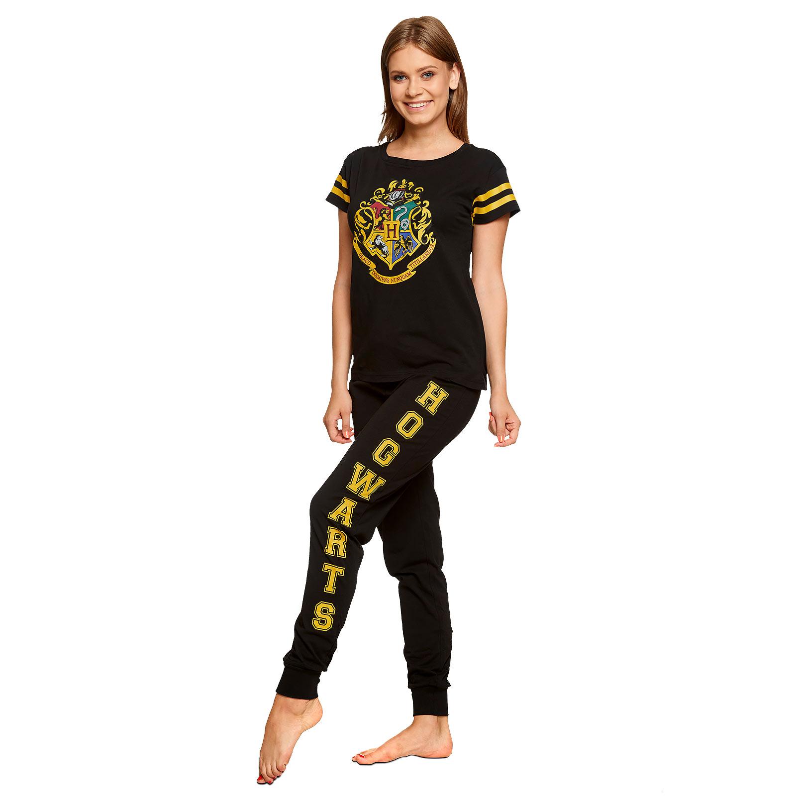 Harry Potter - Hogwarts Wappen Pyjama Damen