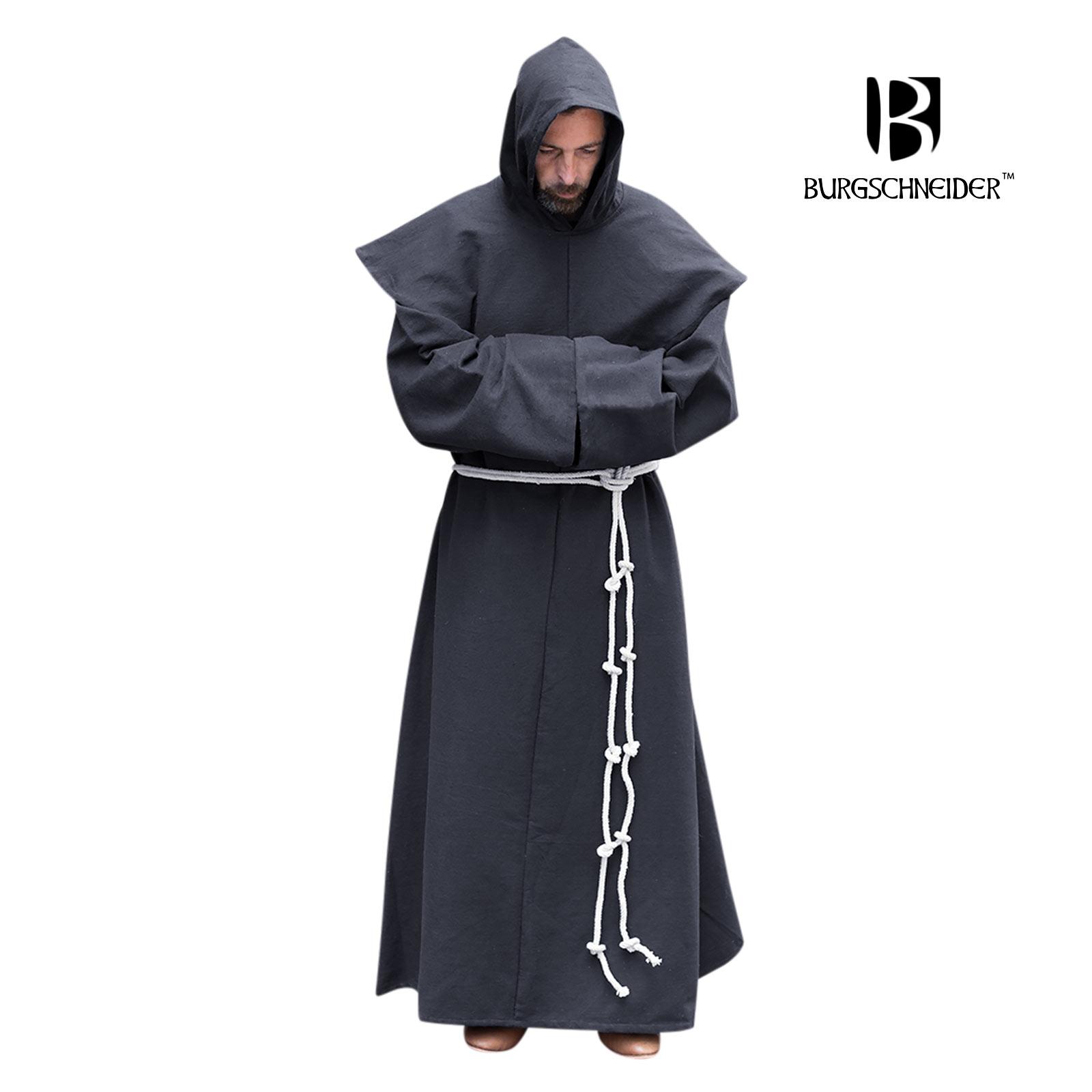 Mönchskutte Benediktus schwarz
