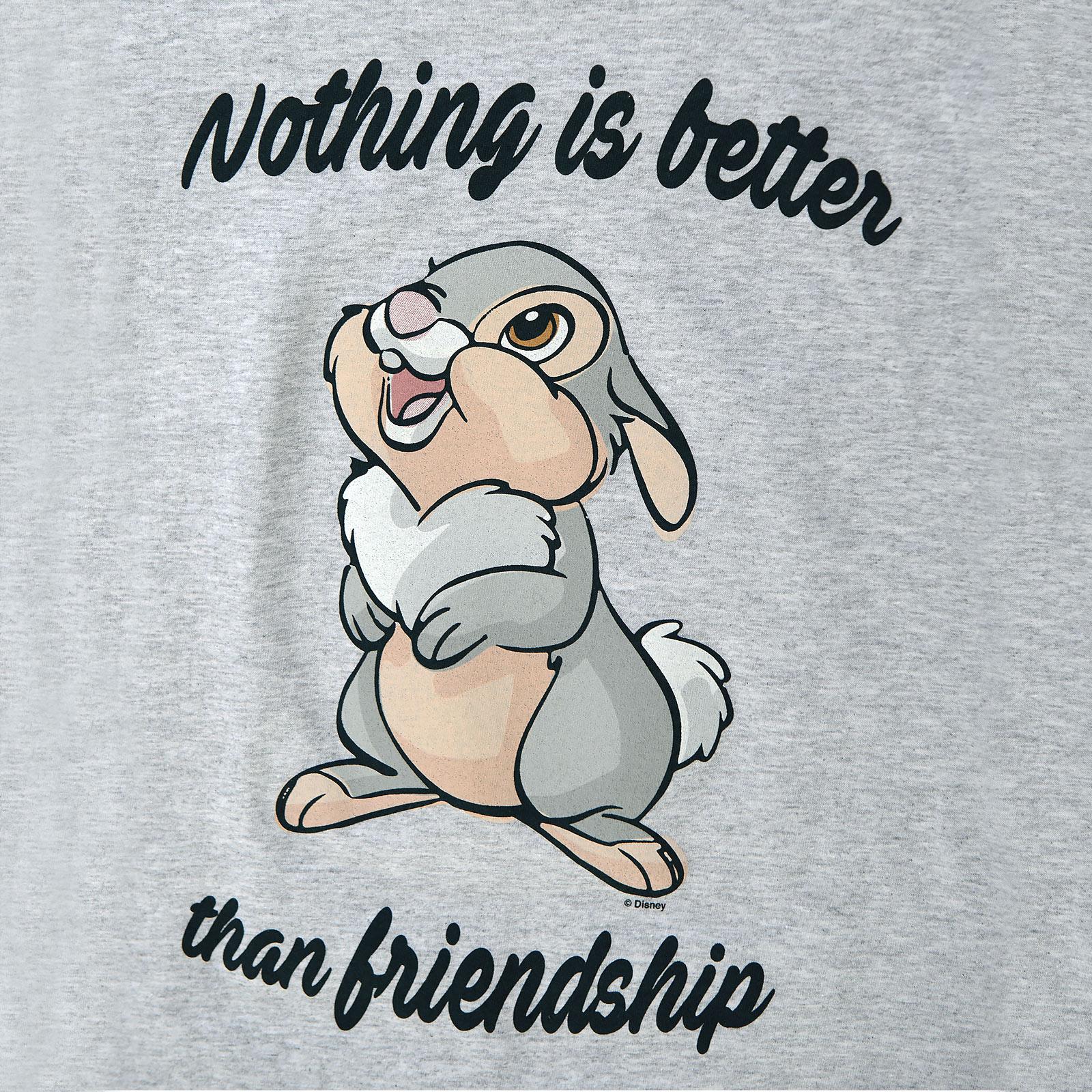 Bambi - Klopfer Friendship T-Shirt Damen grau
