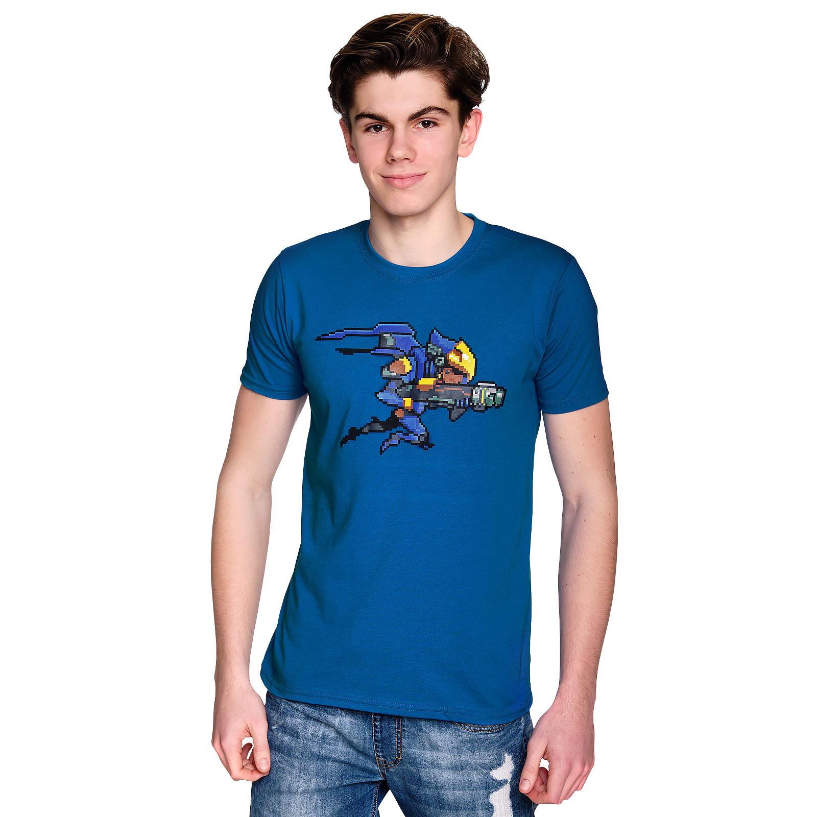 Overwatch - Pharah Pixel T-Shirt blau