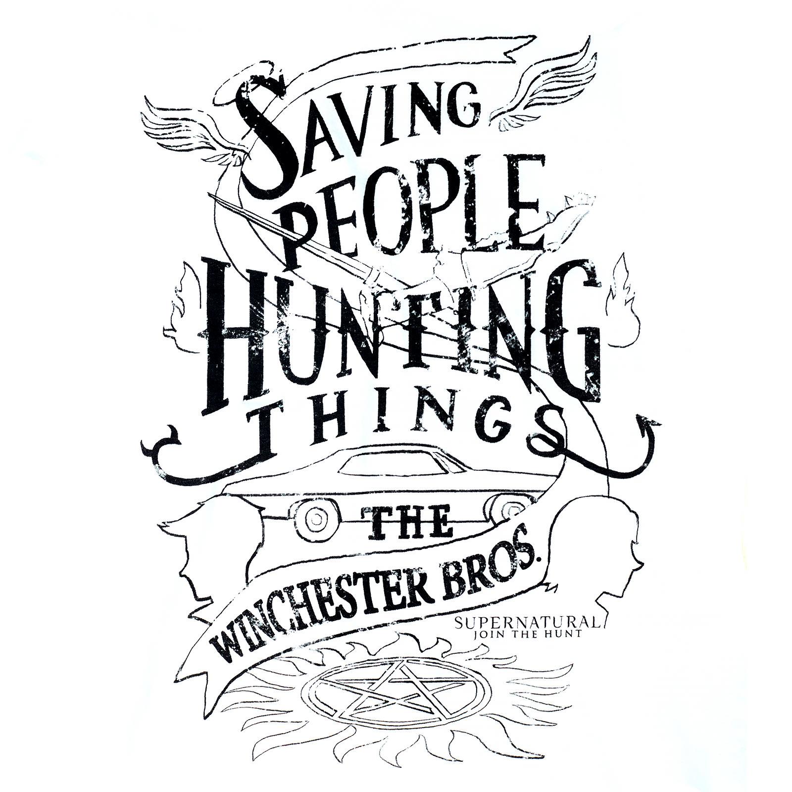 Supernatural - Winchester Bros T-Shirt Damen weiß