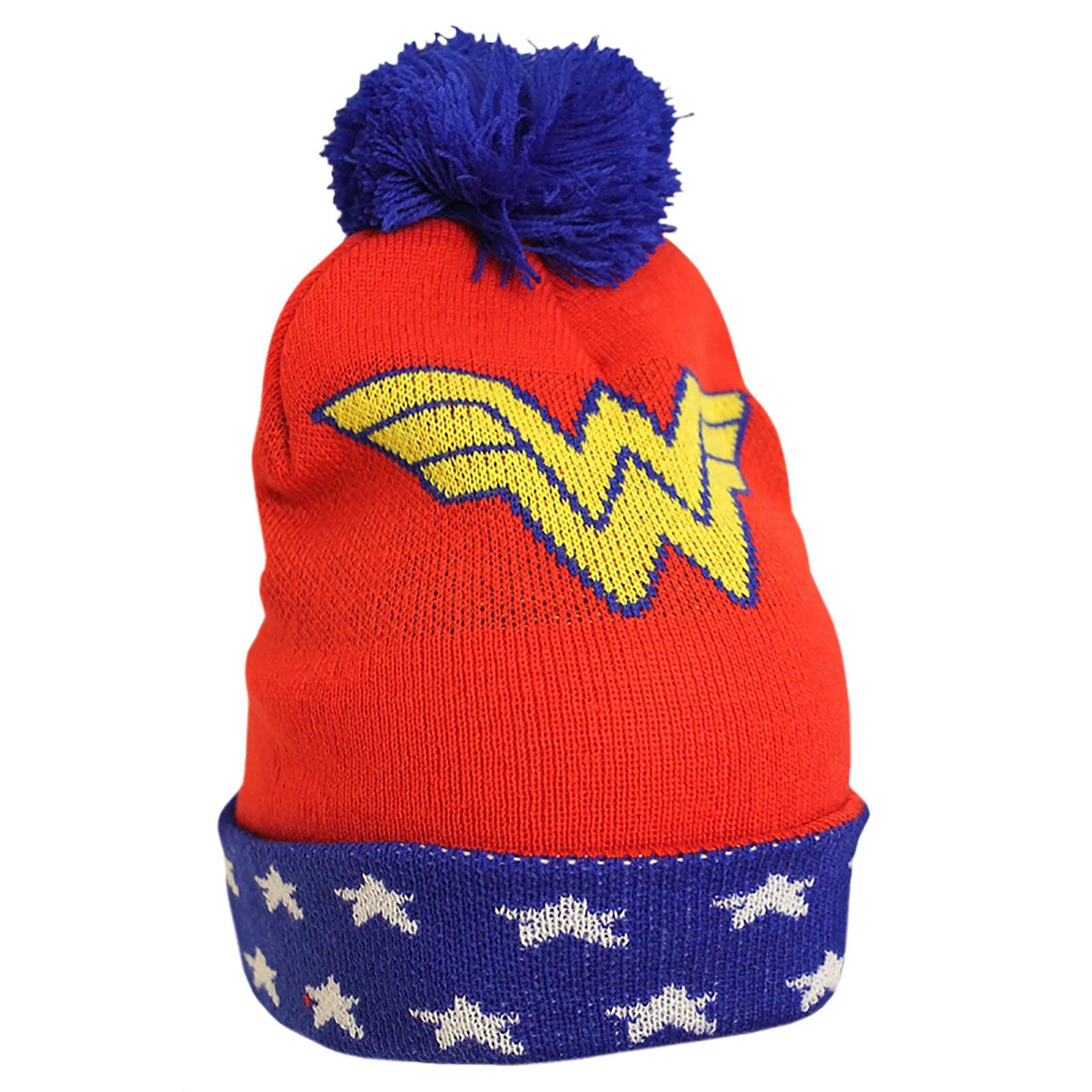 Wonder Woman Mütze mit Bommel