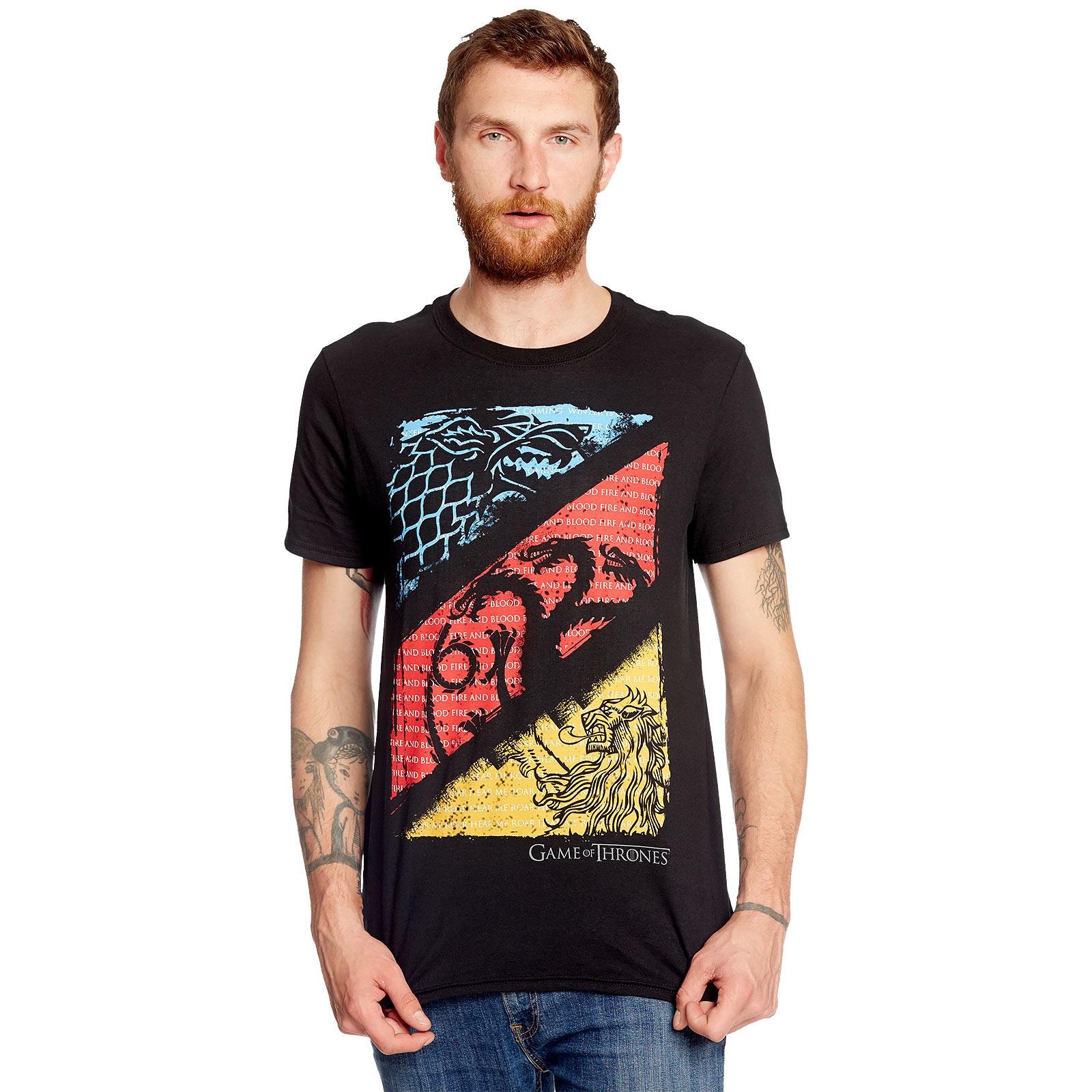 Game of Thrones - Sigils T-Shirt schwarz