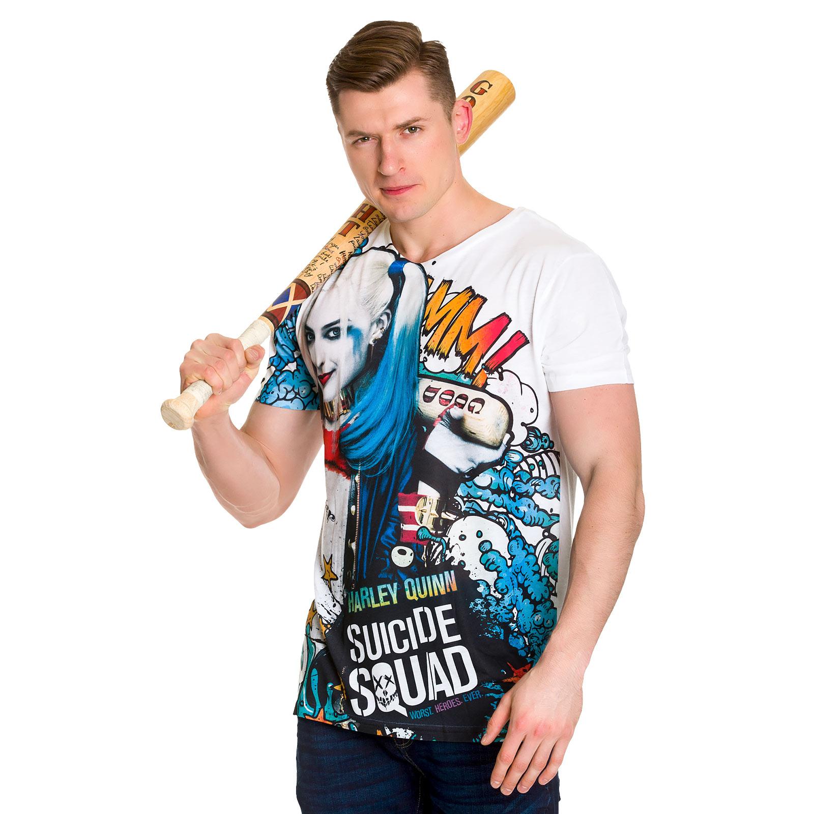 Suicide Squad - Harley Quinn Graffiti Full Size T-Shirt