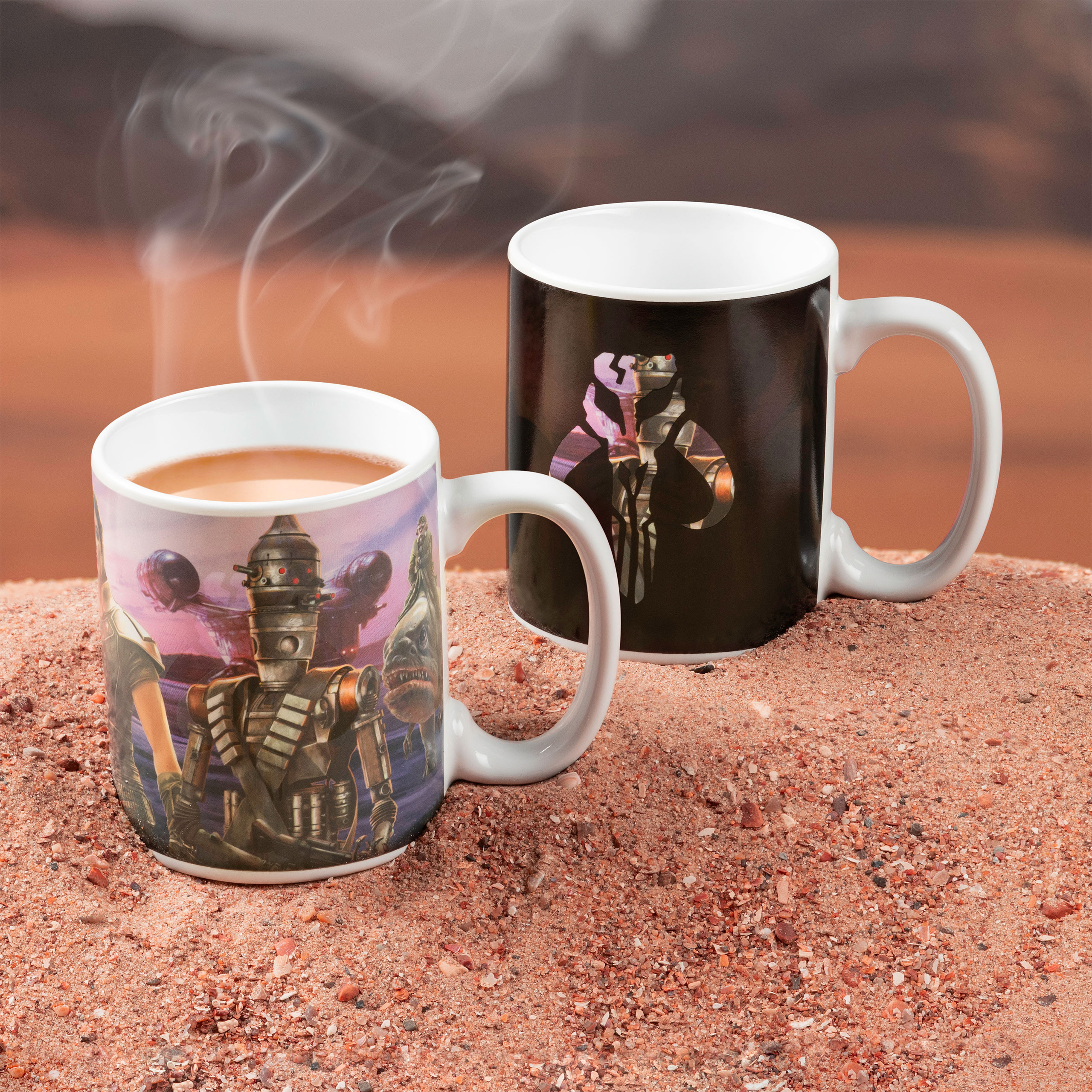 The Mandalorian Collage Thermoeffekt Tasse - Star Wars