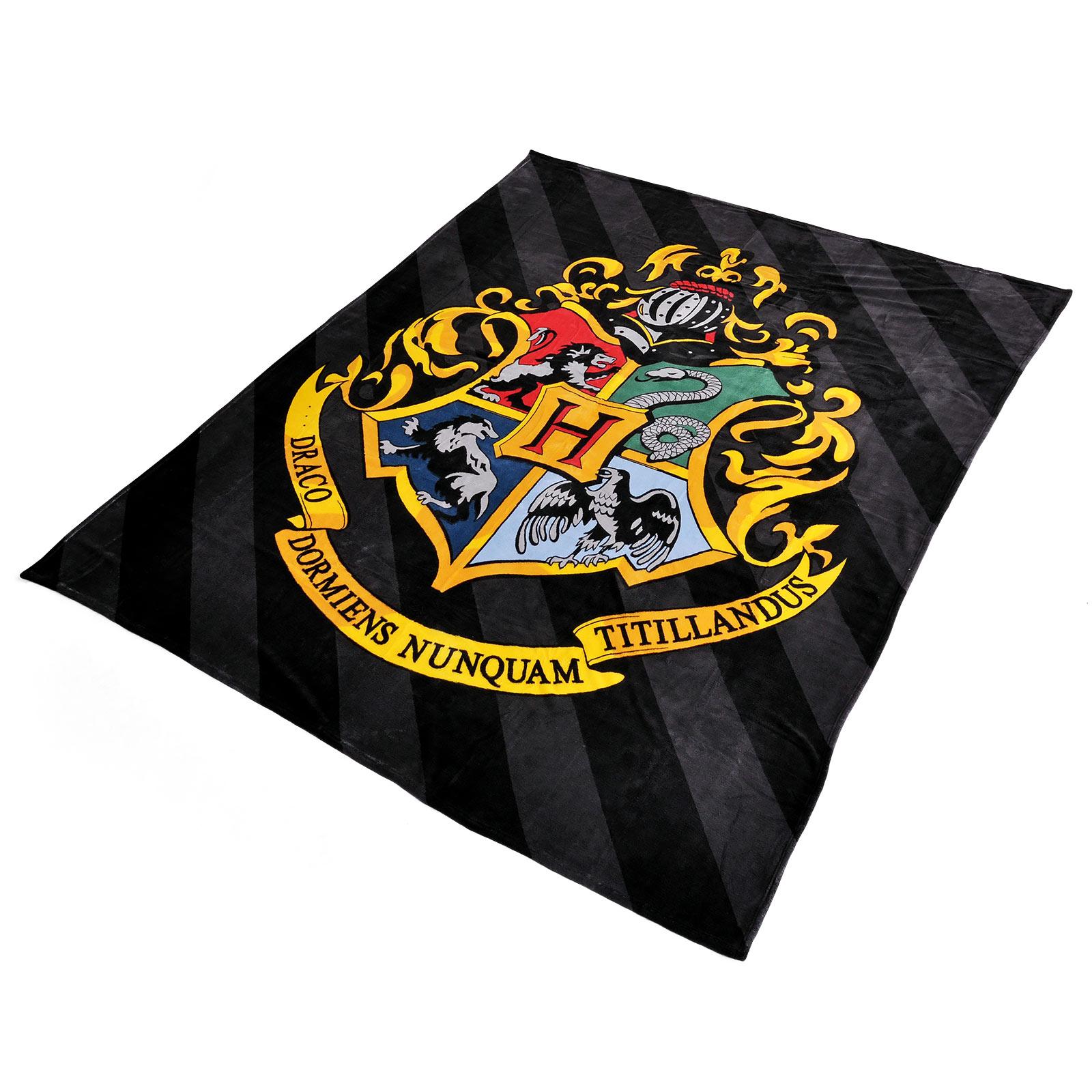Harry Potter- Hogwarts Wappen Flauschdecke