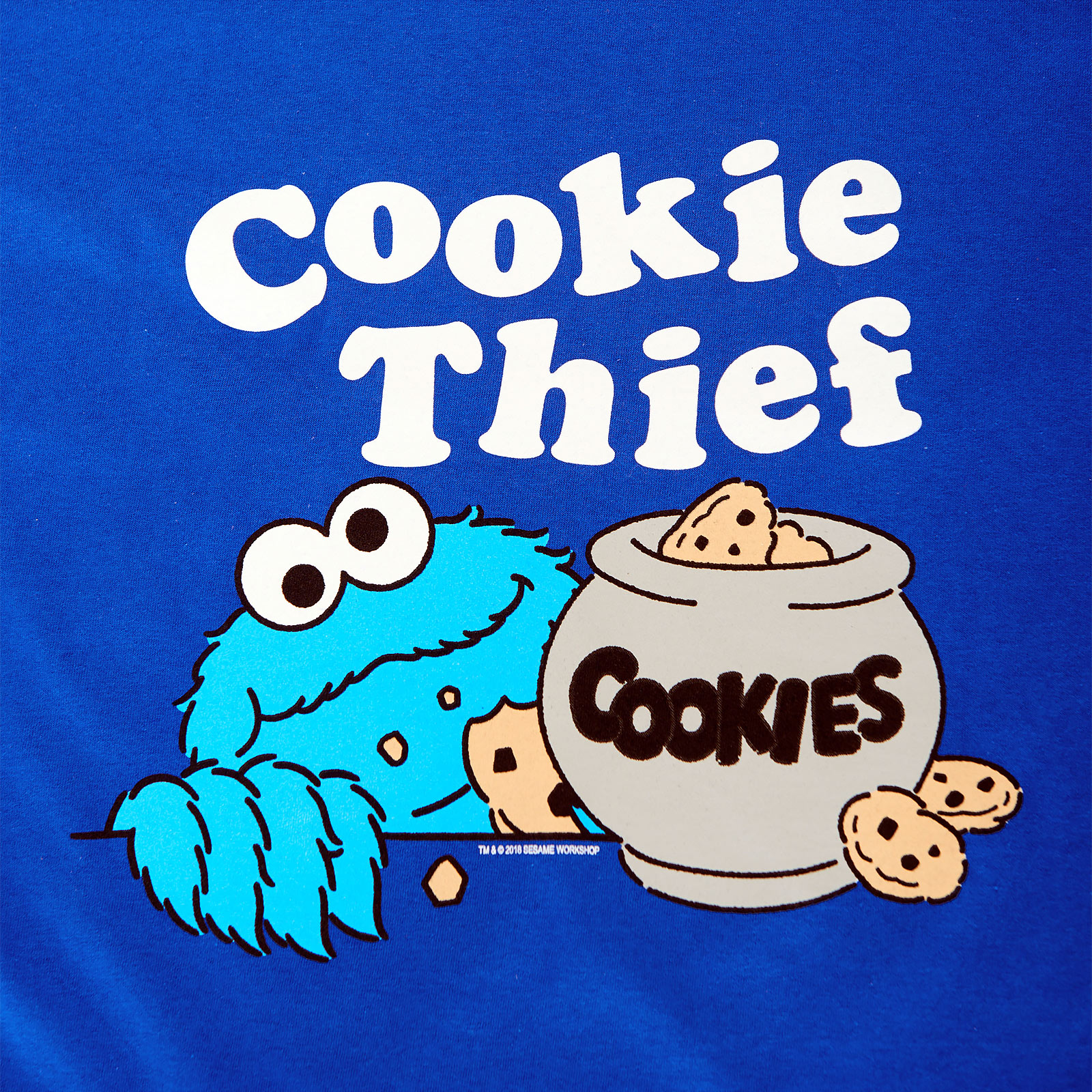 Sesamstraße - Cookie Thief T-Shirt blau