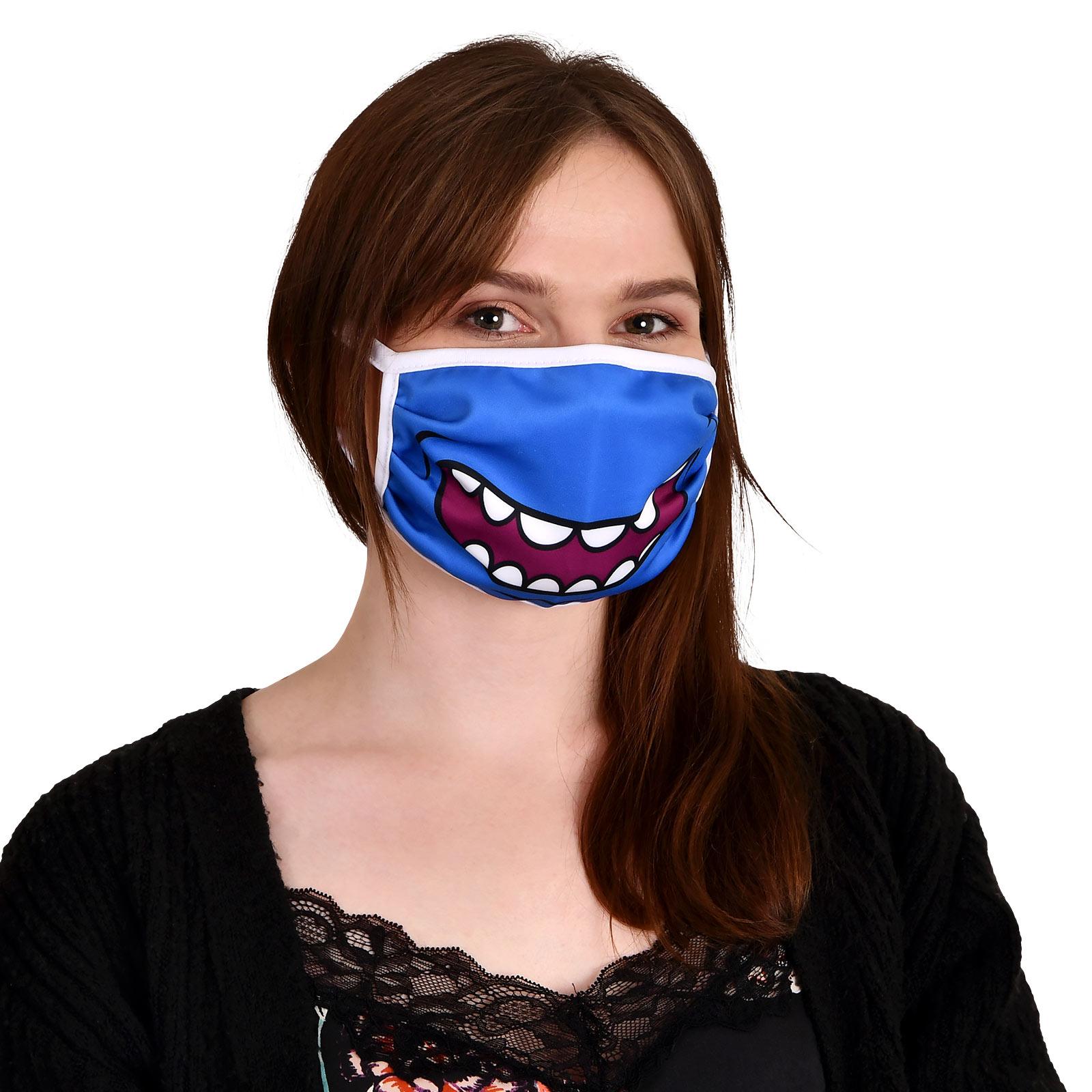 Mr. Meeseeks Gesichtsmaske für Rick and Morty Fans