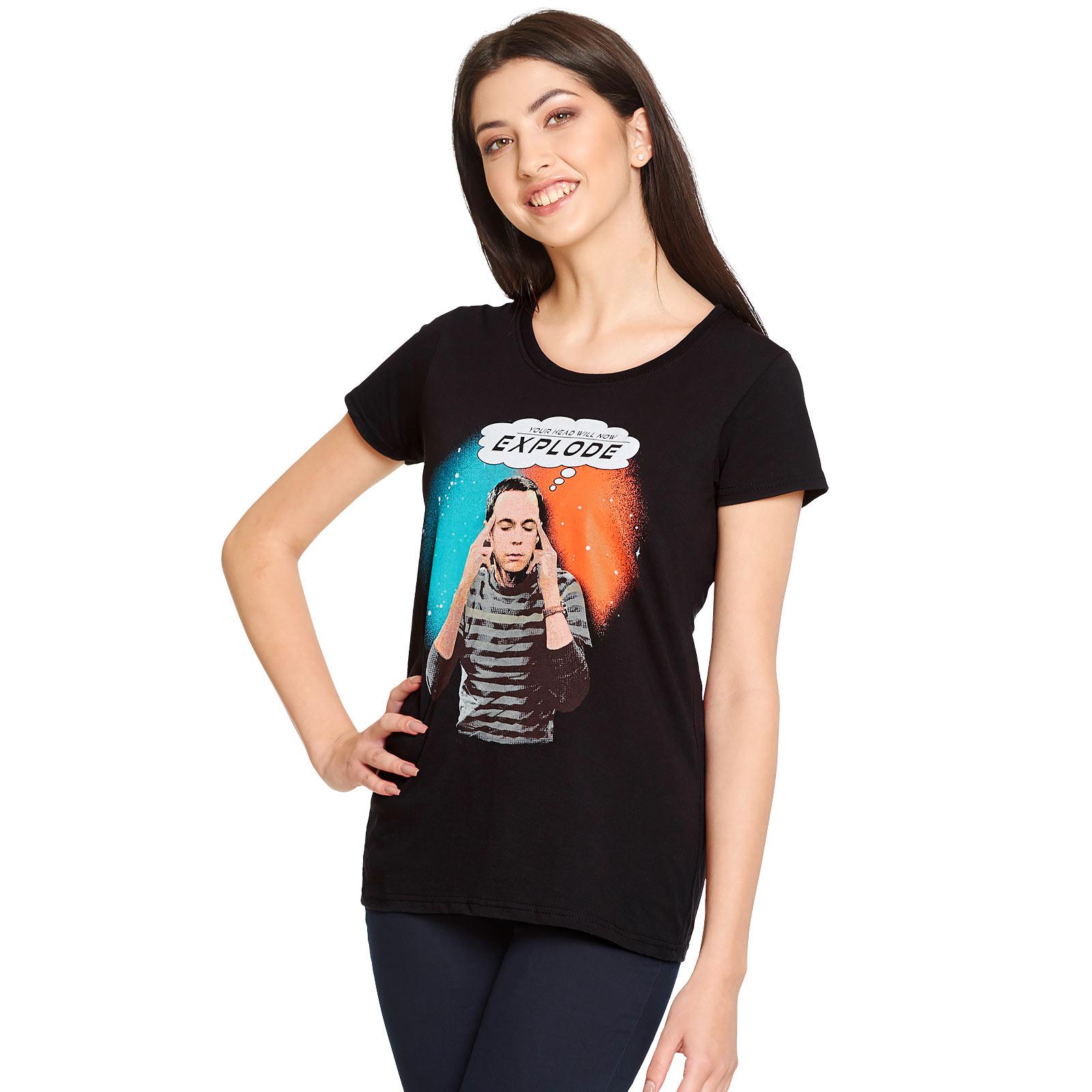 Big Bang Theory - Sheldon Explode T-Shirt Damen schwarz