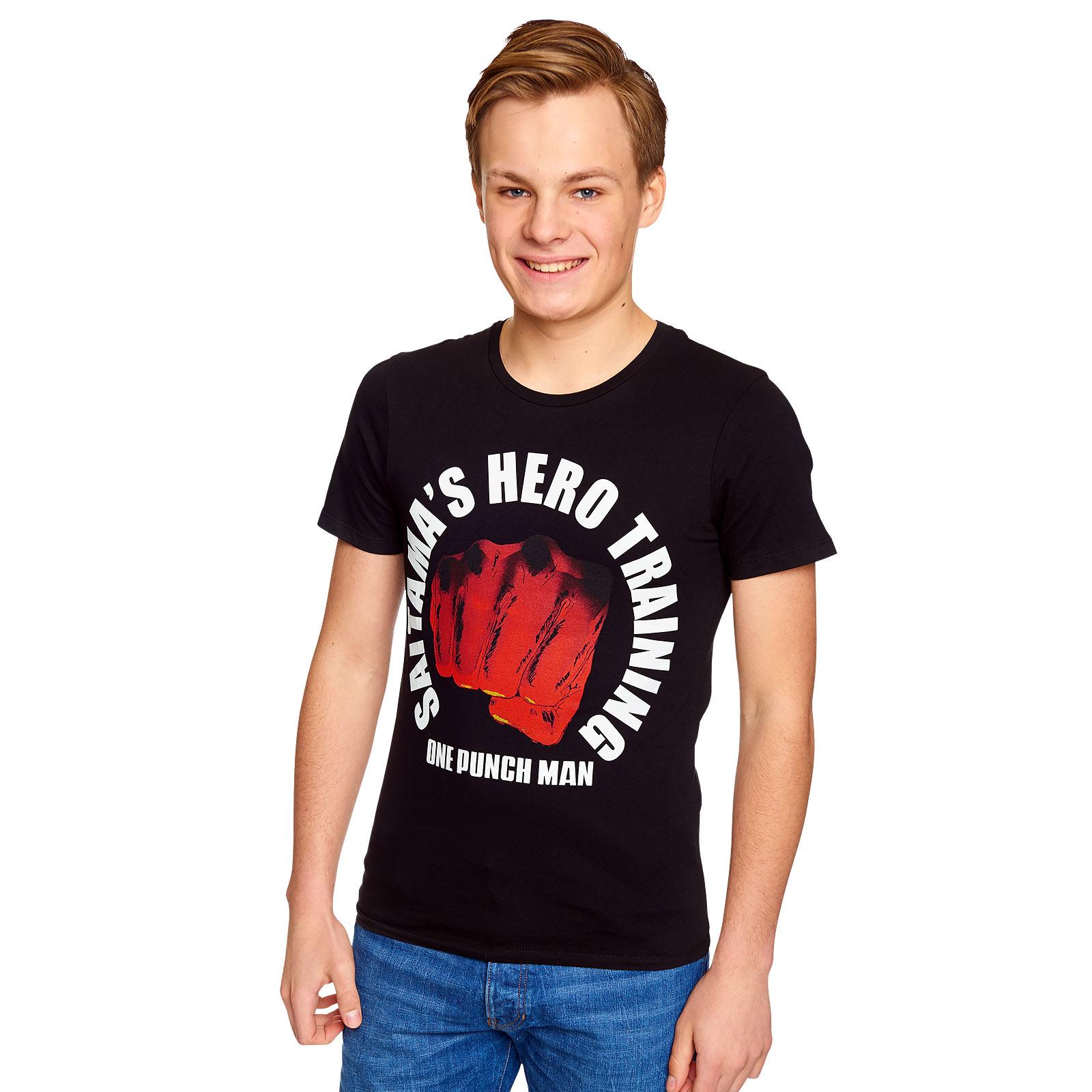 One Punch Man - Hero Training T-Shirt schwarz