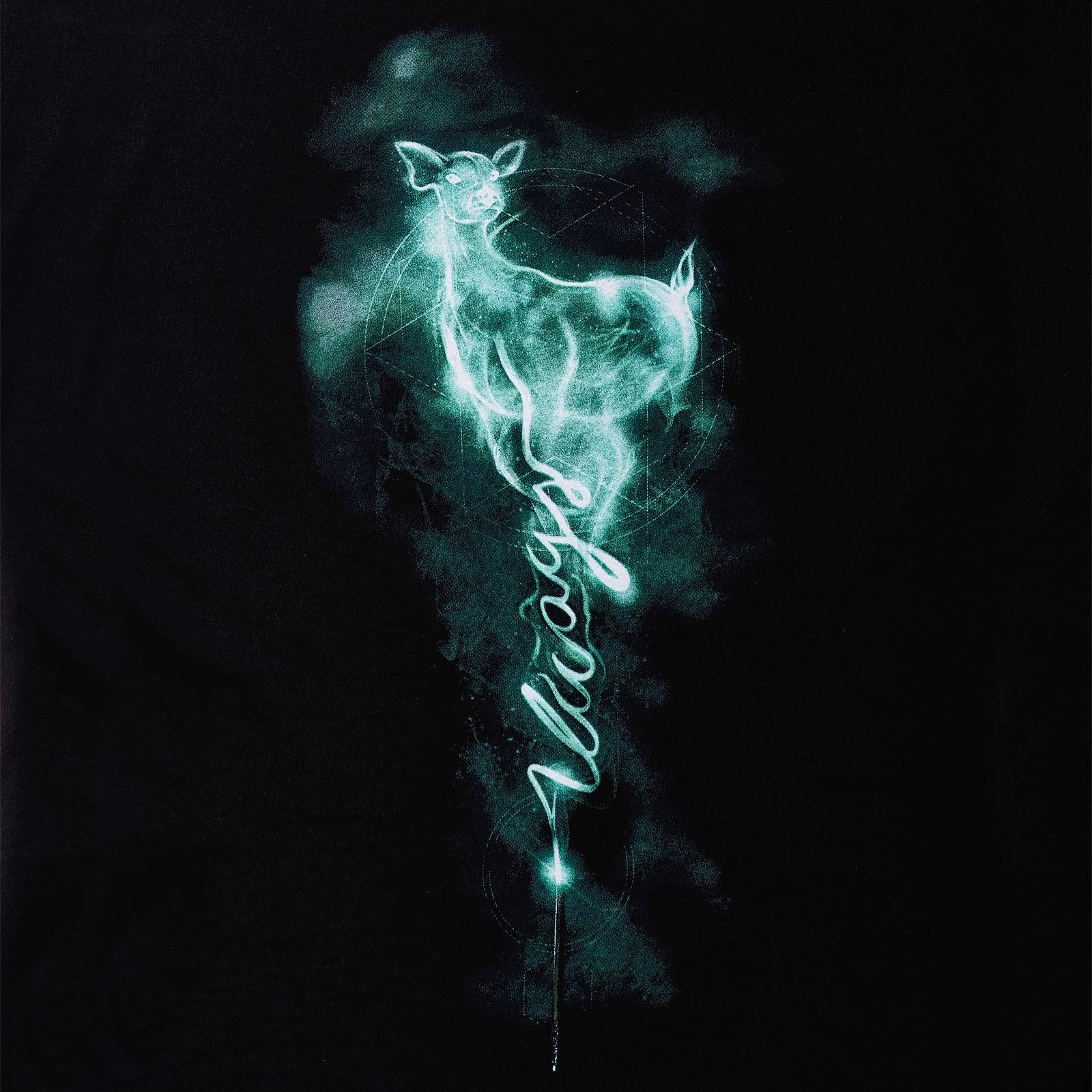 Patronus Always T-Shirt Damen schwarz - Harry Potter