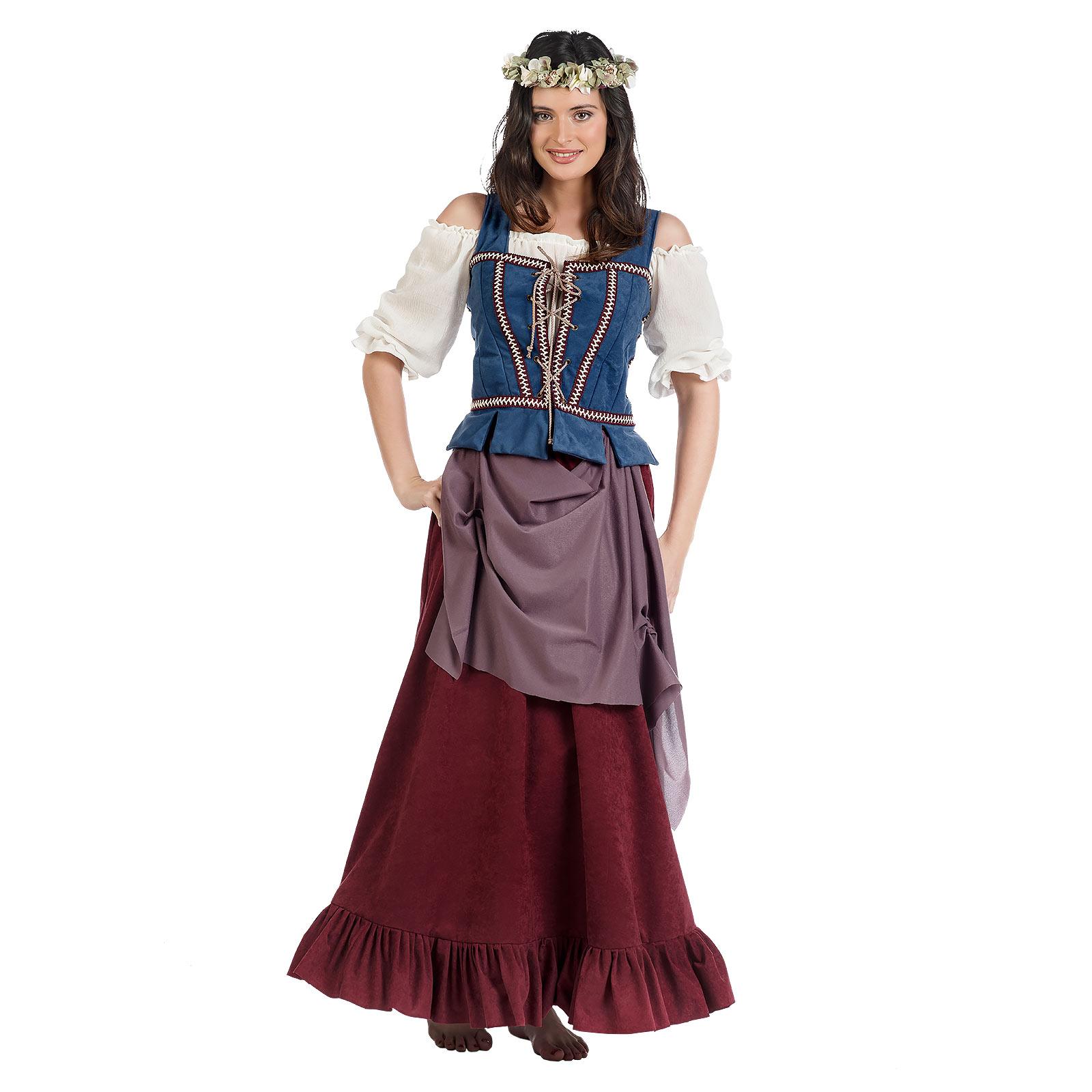 Mittelalter Magd Kostüm Damen