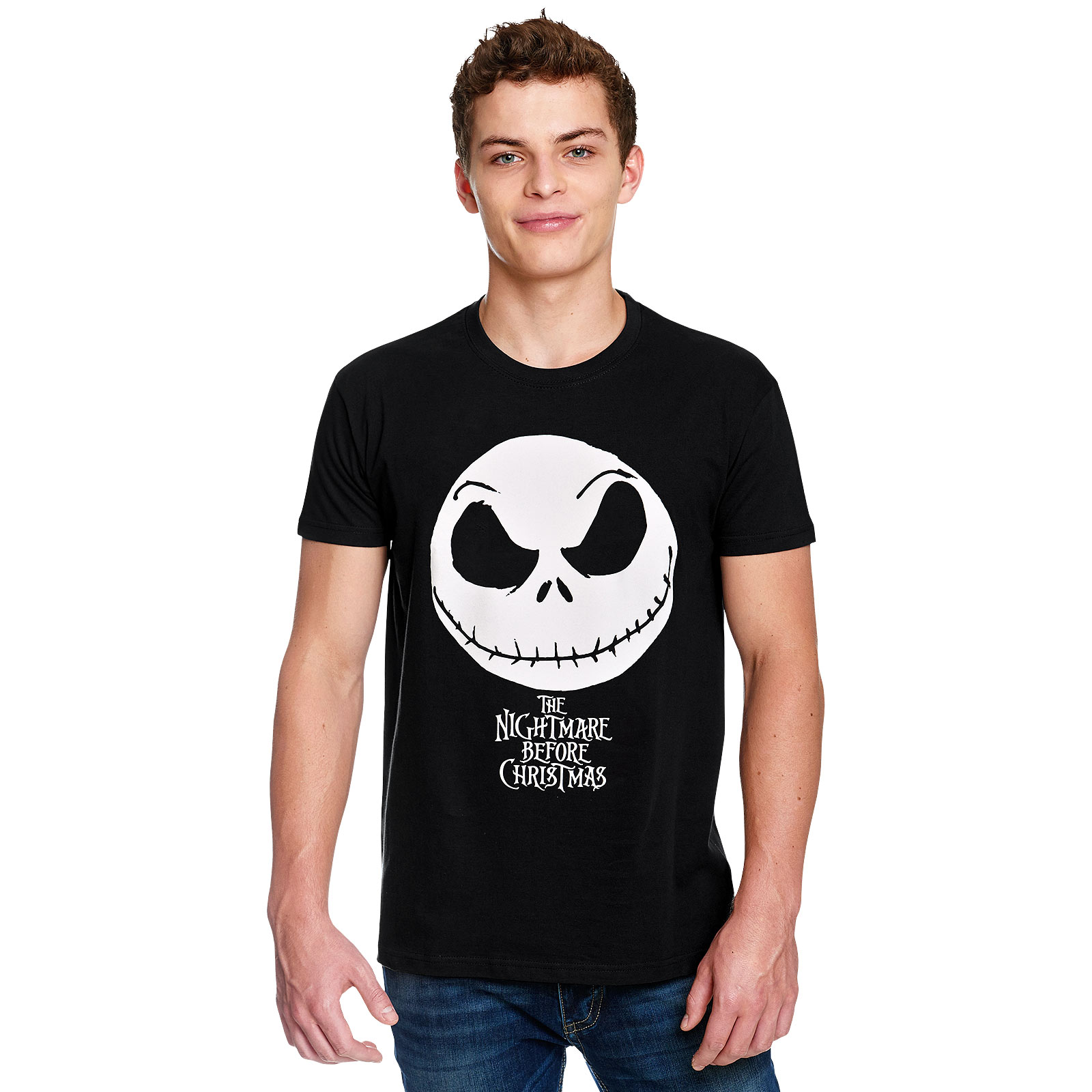 Nightmare Before Christmas - Jack Face T-Shirt schwarz