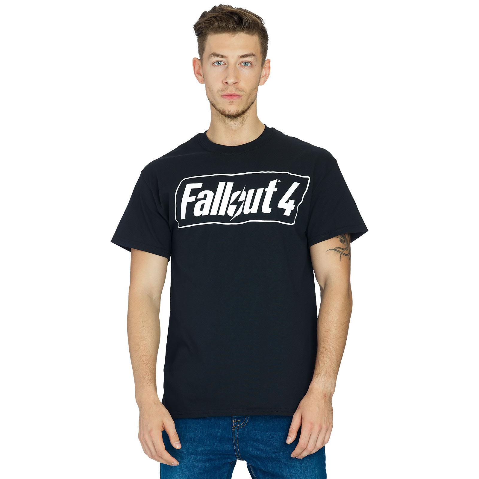 Fallout 4 - Game Logo T-Shirt schwarz