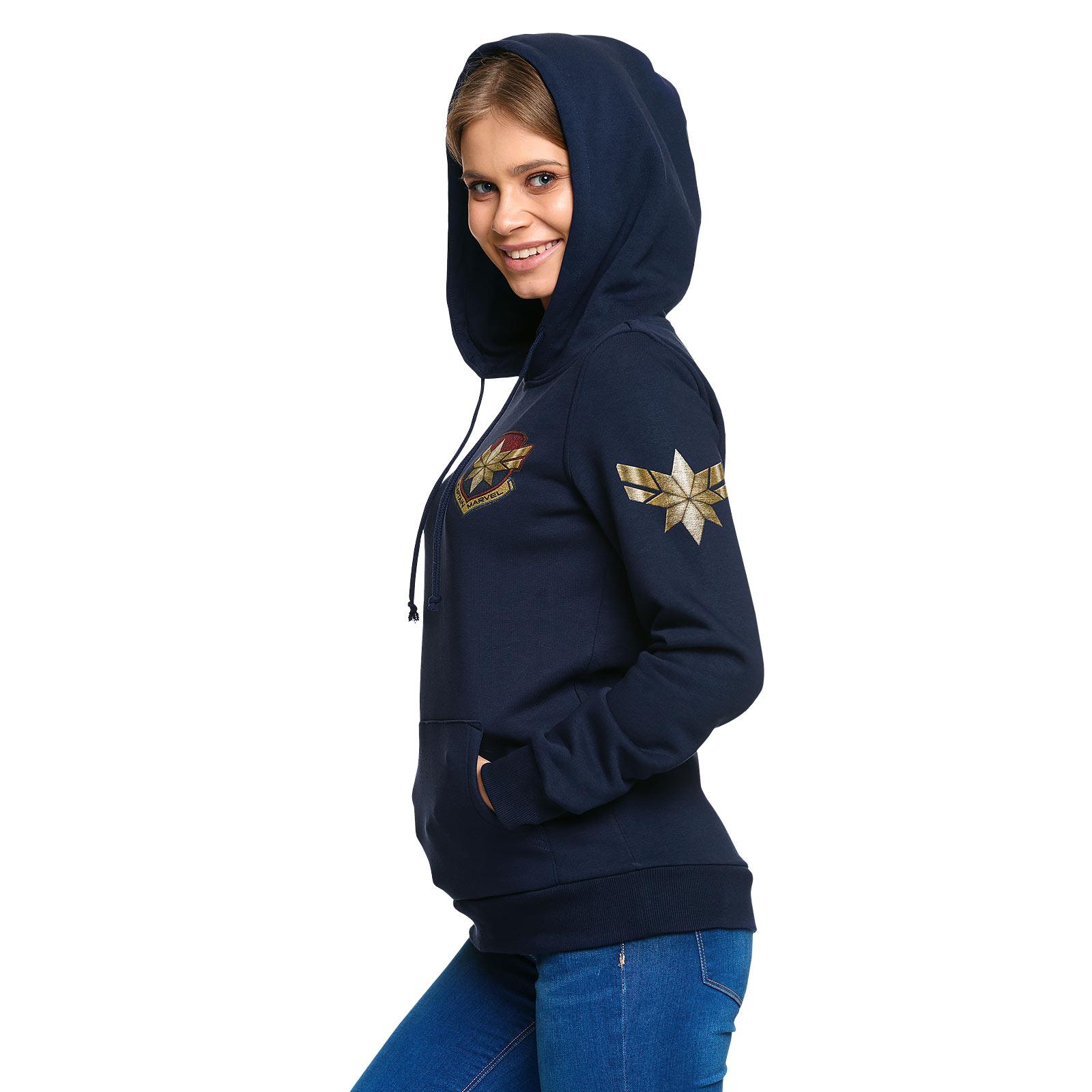 Captain Marvel - Star Logo Hoodie Damen blau